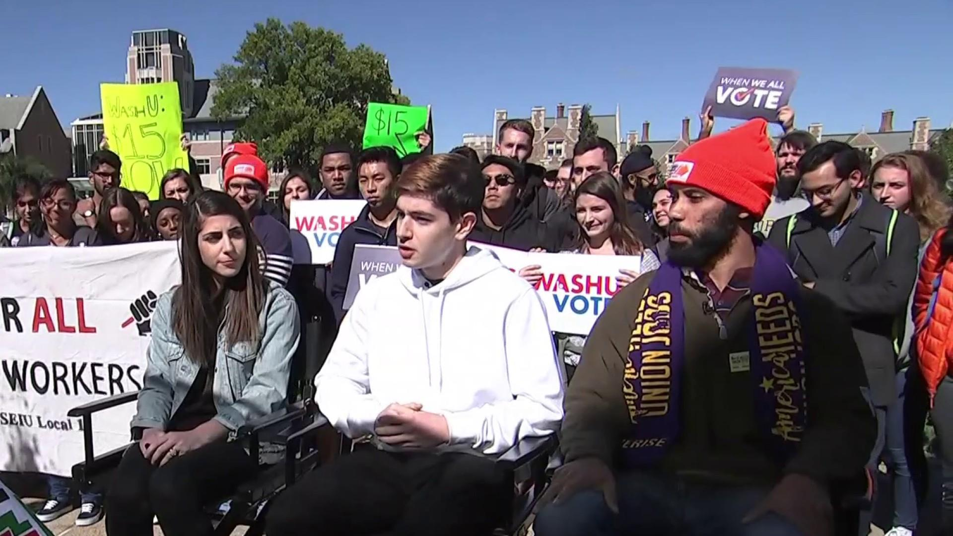 What issues are important to students at Washington University in St. Louis?