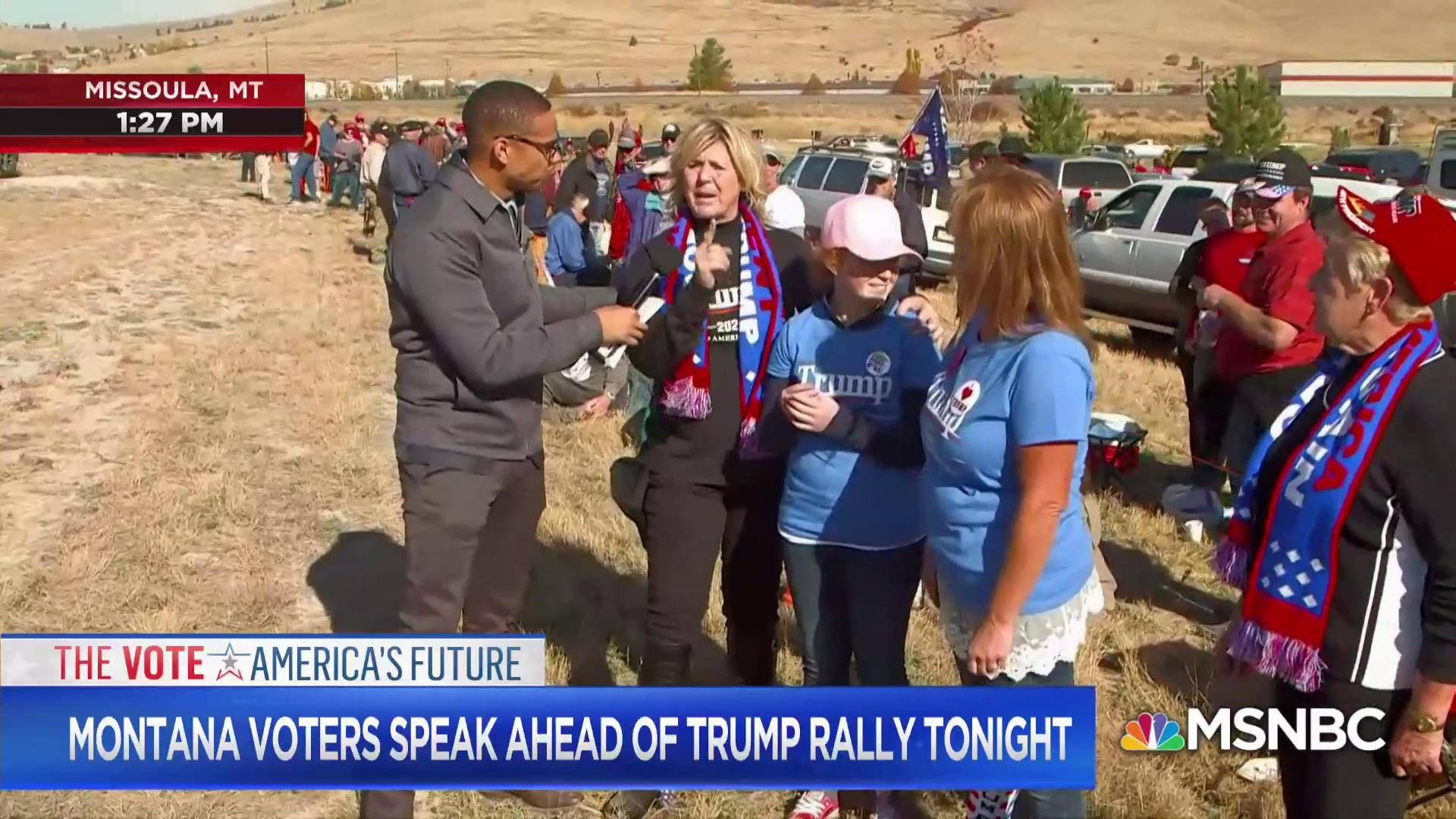 Fired up female Trump supporters ahead of MT rally