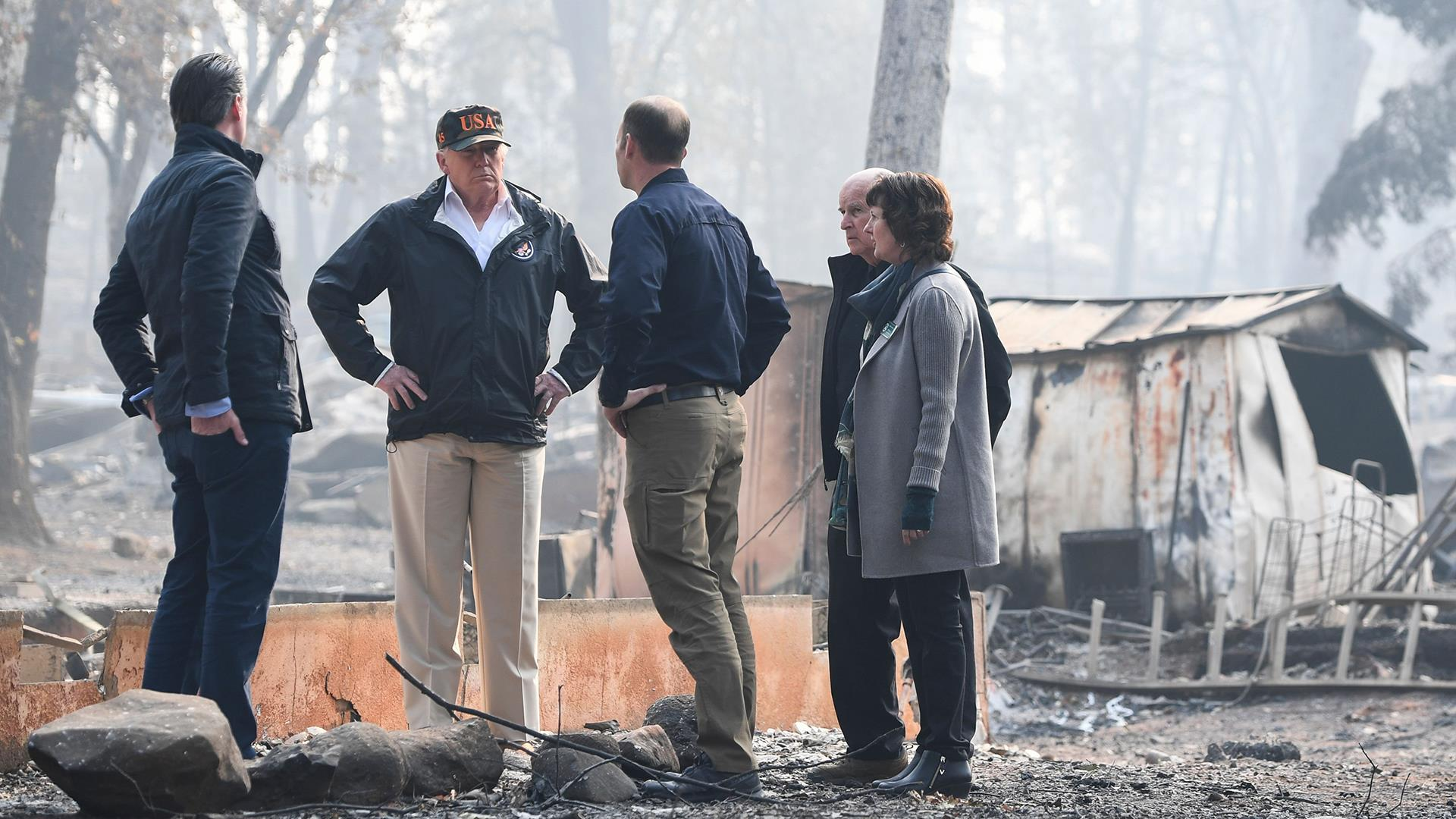 Trump visits site of California's most deadly fire, pledges federal help