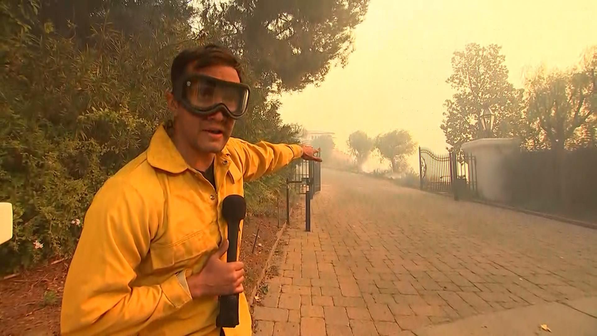 NBC's Gadi Schwartz reports on ravaging California wildfires from the ground