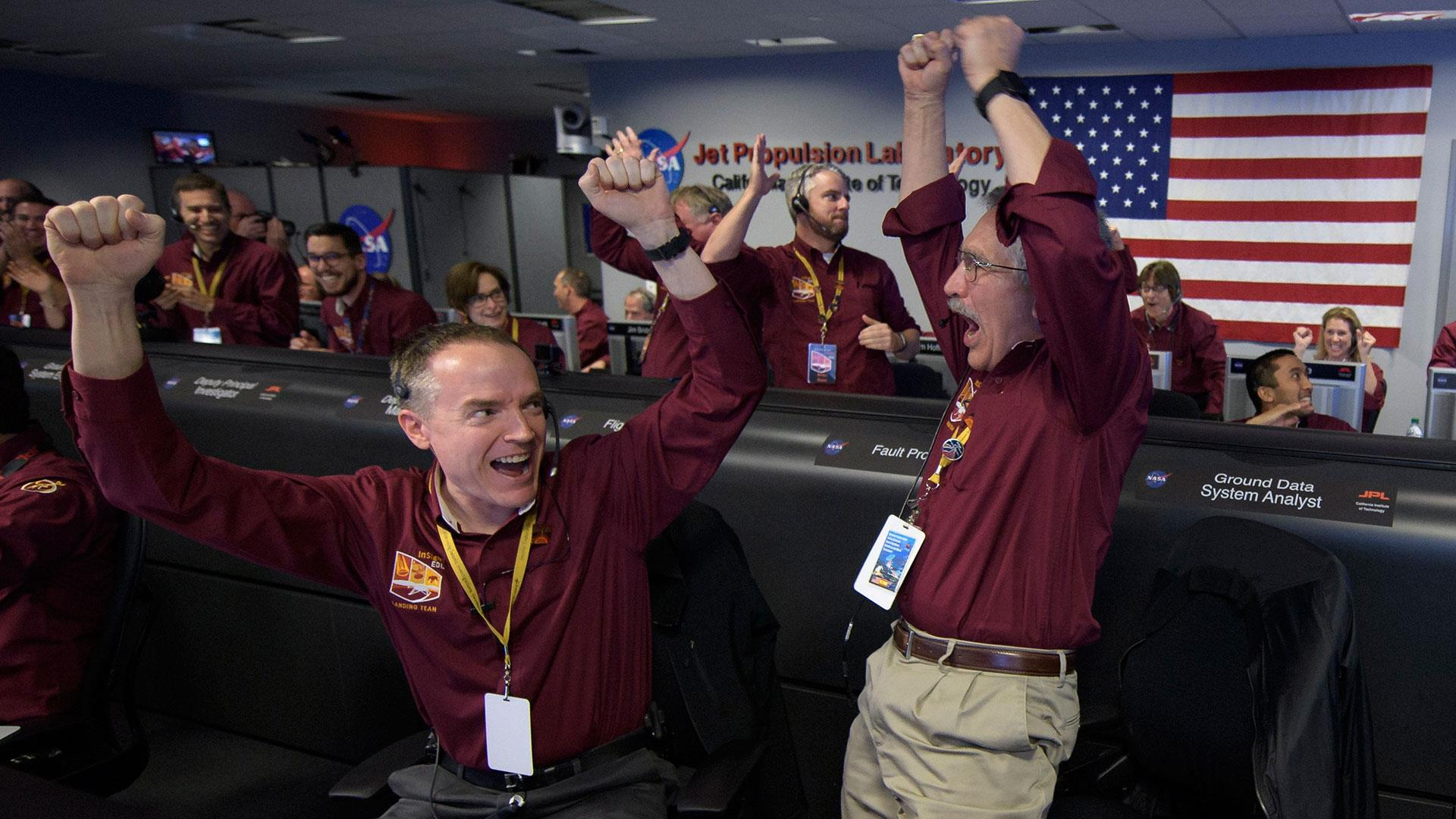 NASA spacecraft lands on Mars
