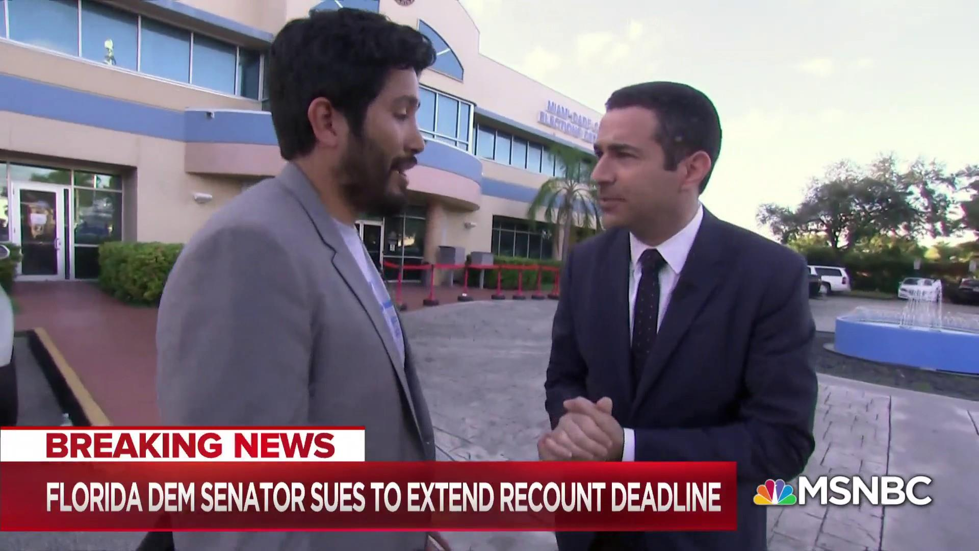 Historic recount: Florida Dem Senator sues to extend deadline