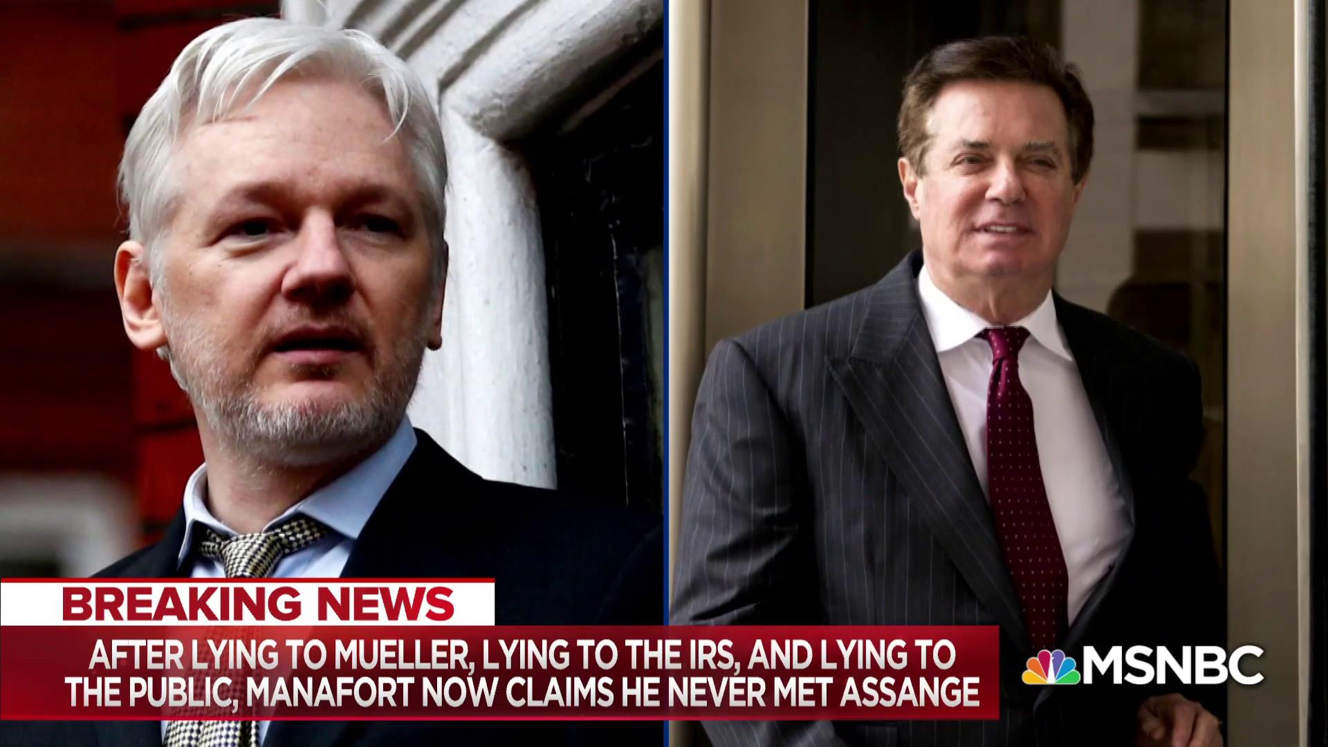 Collusion bombshell: Report Manafort met with Assange in 2016