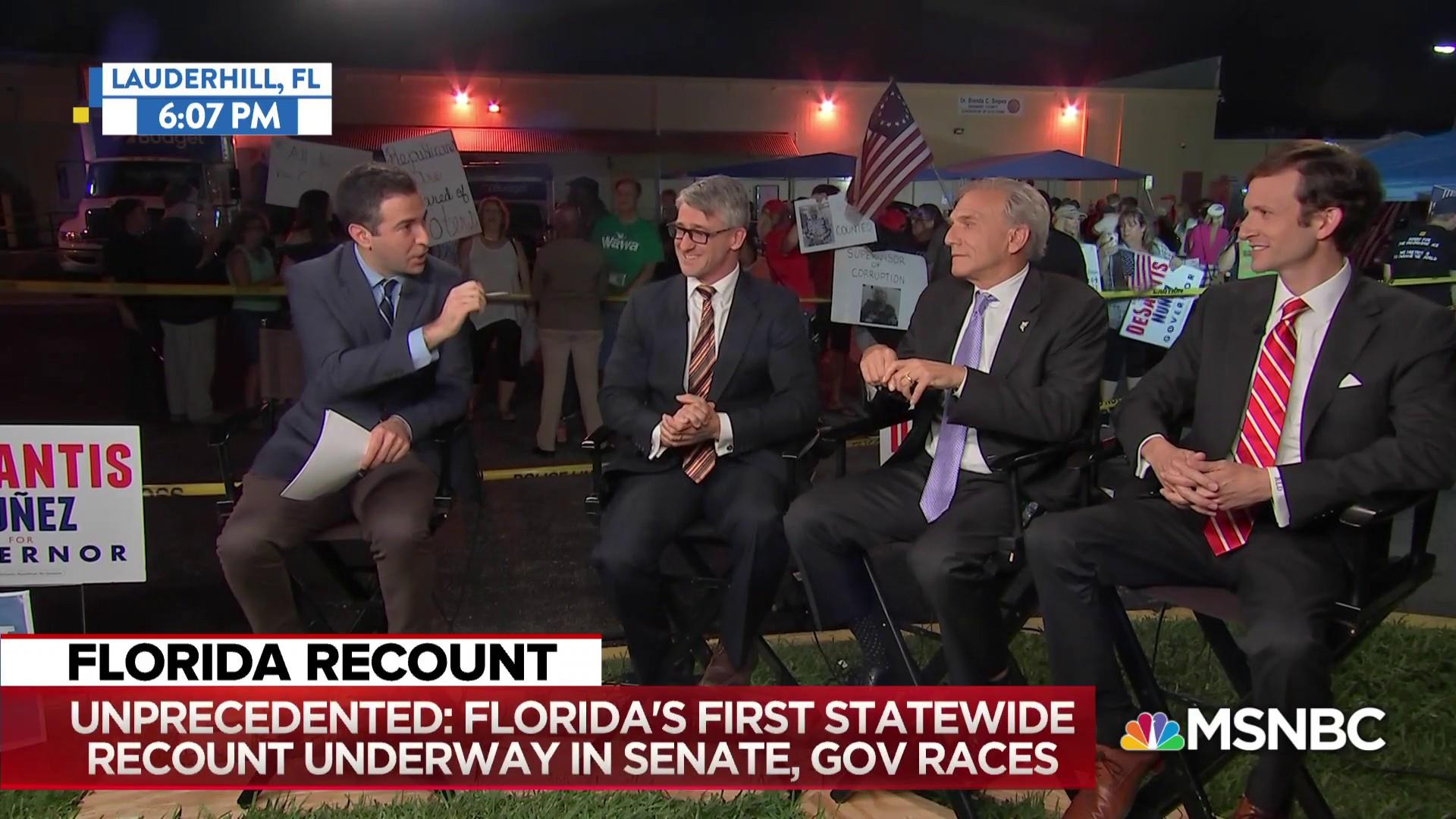 Unprecedented: Florida recounts midterm Senate, Governor races