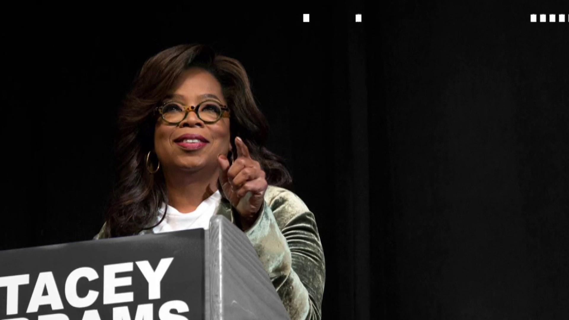Oprah knocks on doors for Democrat Stacey Abrams in Georgia