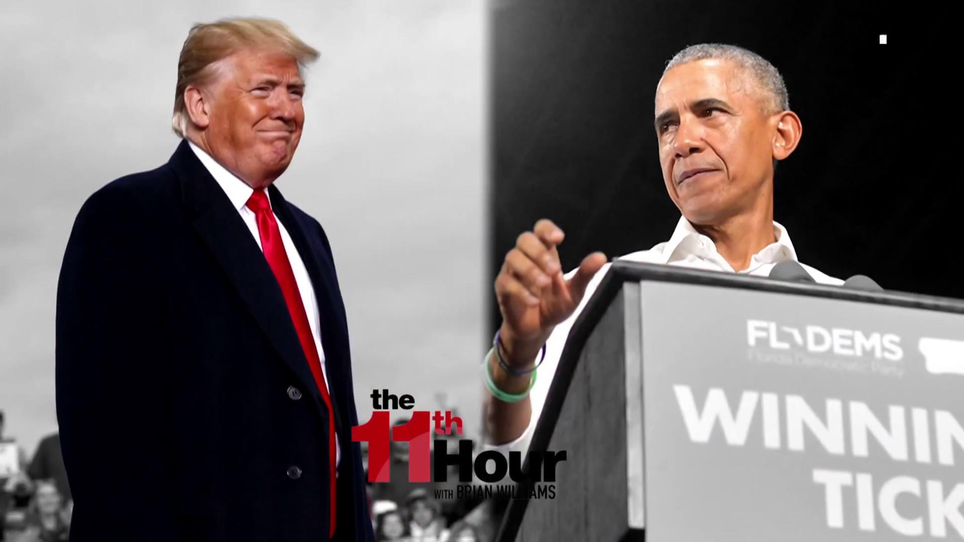 Two presidents go head-to-head before Election Day