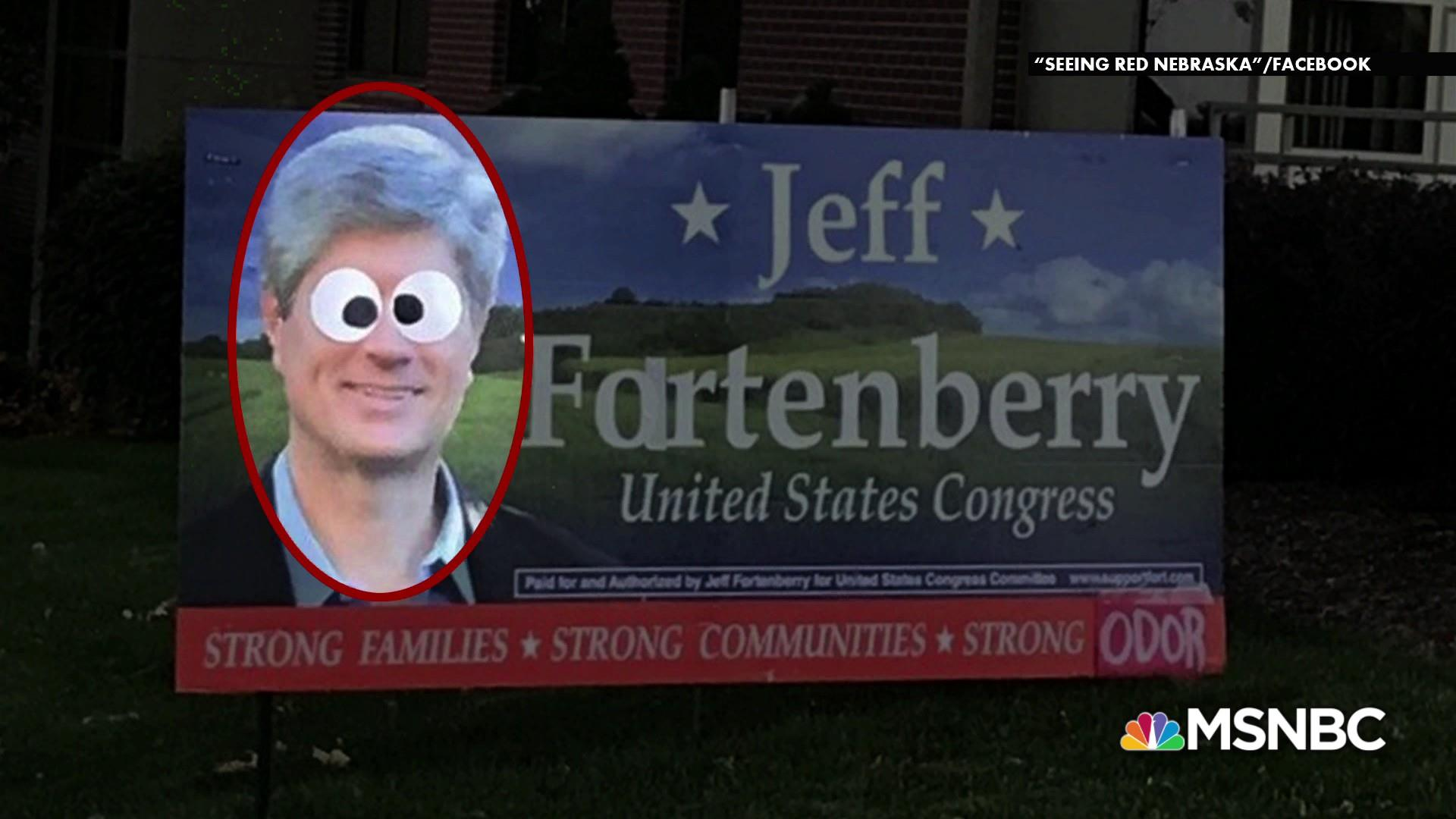 """Fartenberry"" yard sign prank causes quite a stir"