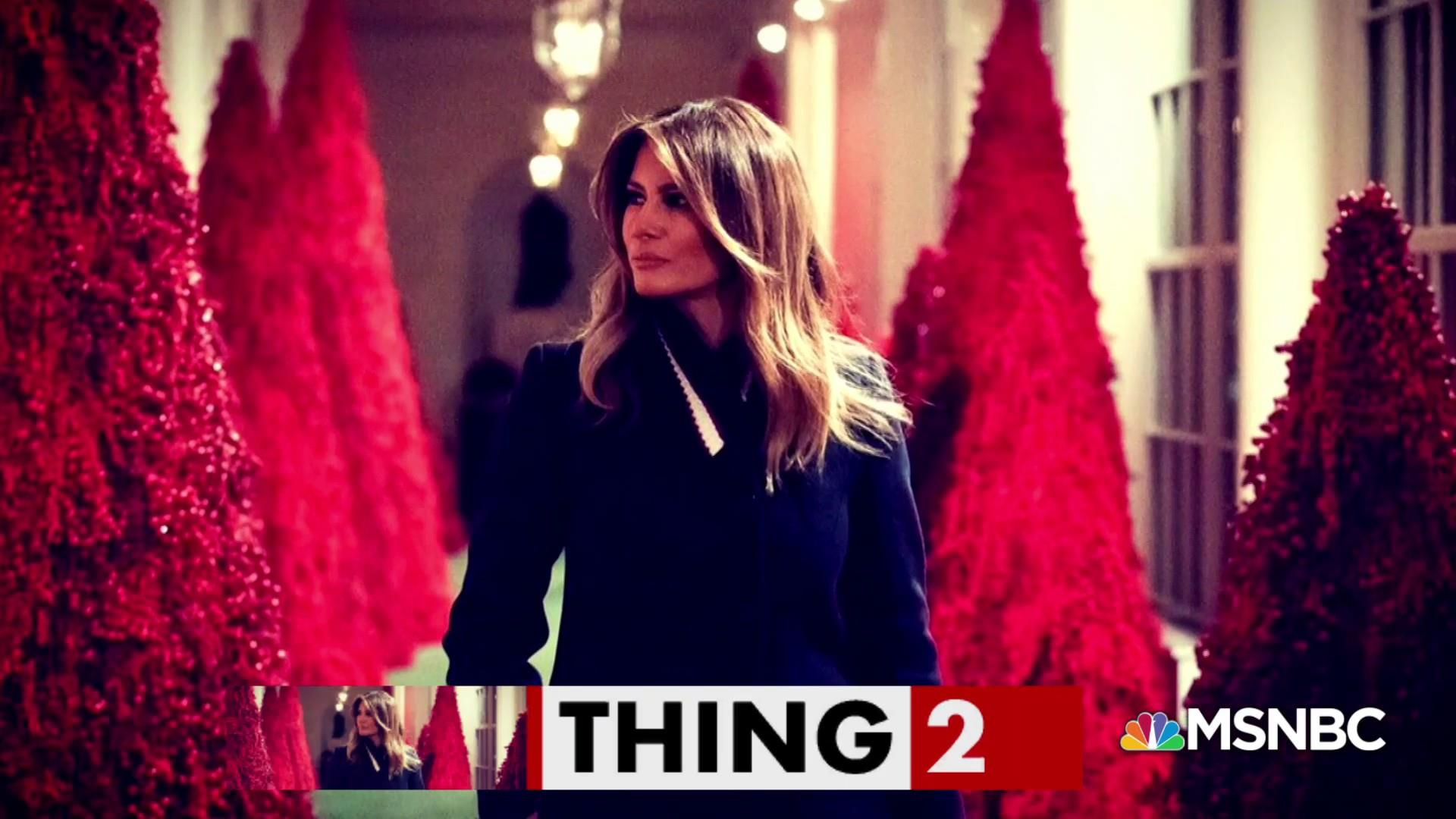 Melania is dreaming of a…red Christmas?
