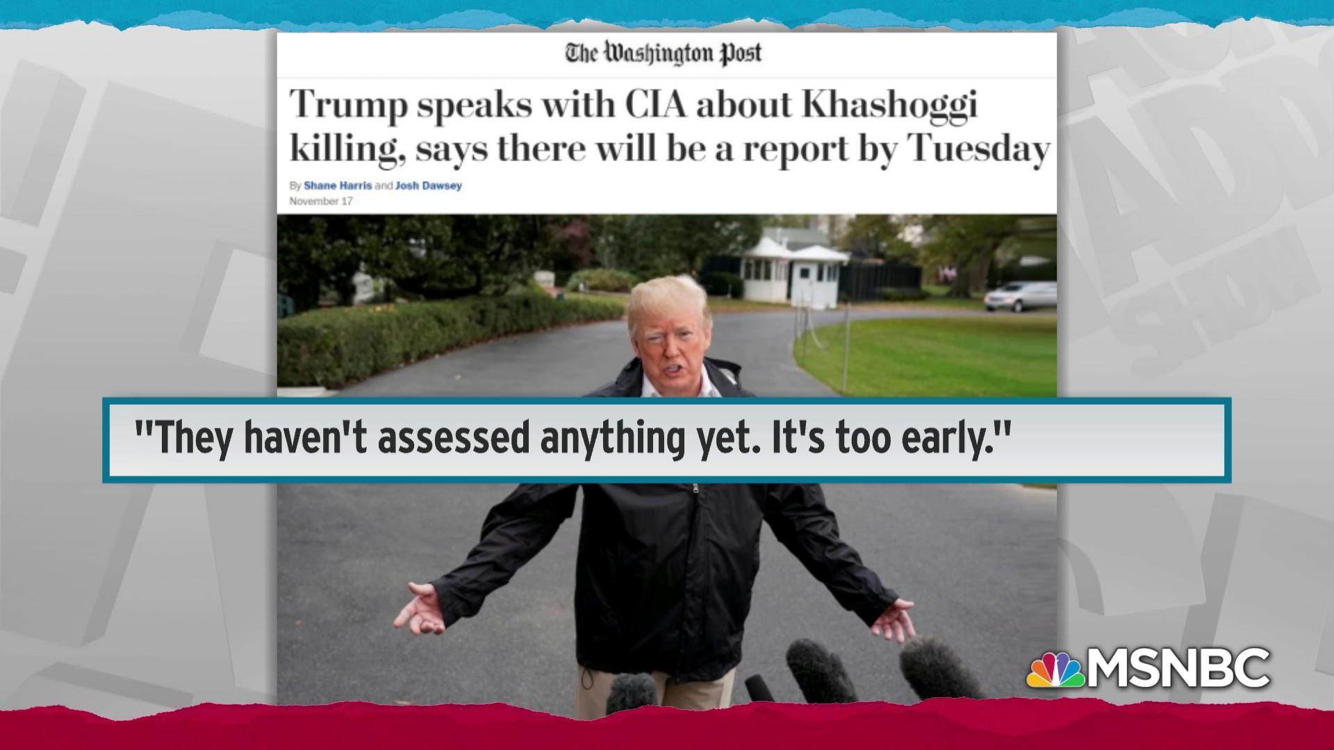 Trump weak on confronting Saudi Arabia over Khashoggi killing