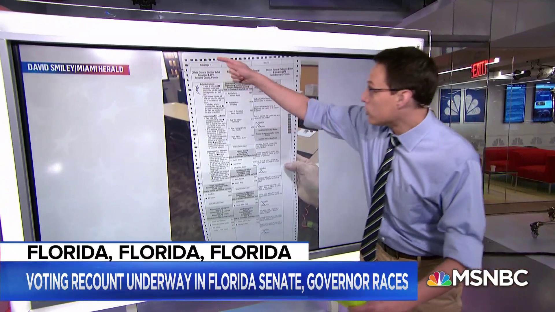 Kornacki's ballot breakdown