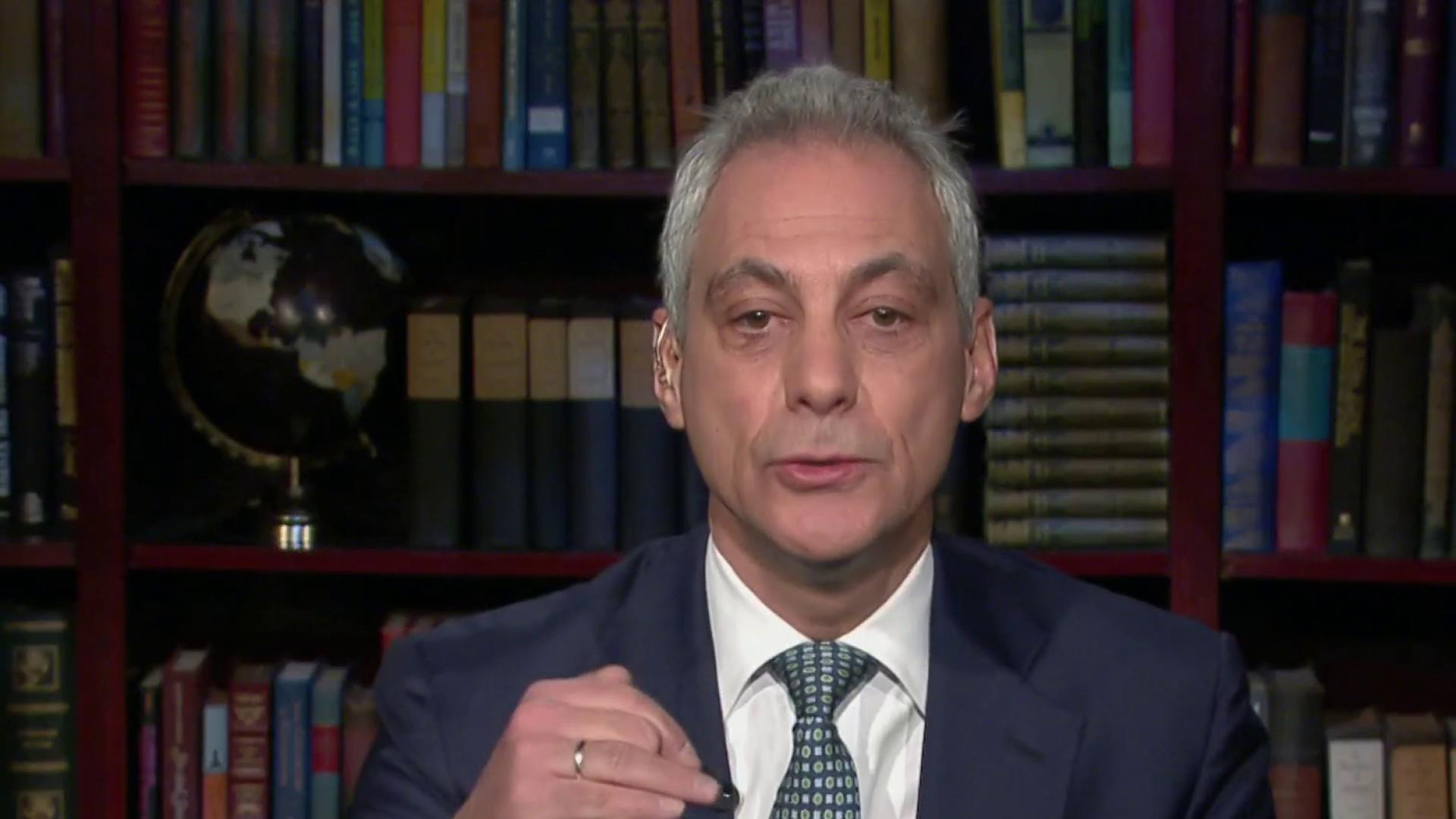 Emanuel: Dems' job is to separate Trump from his base