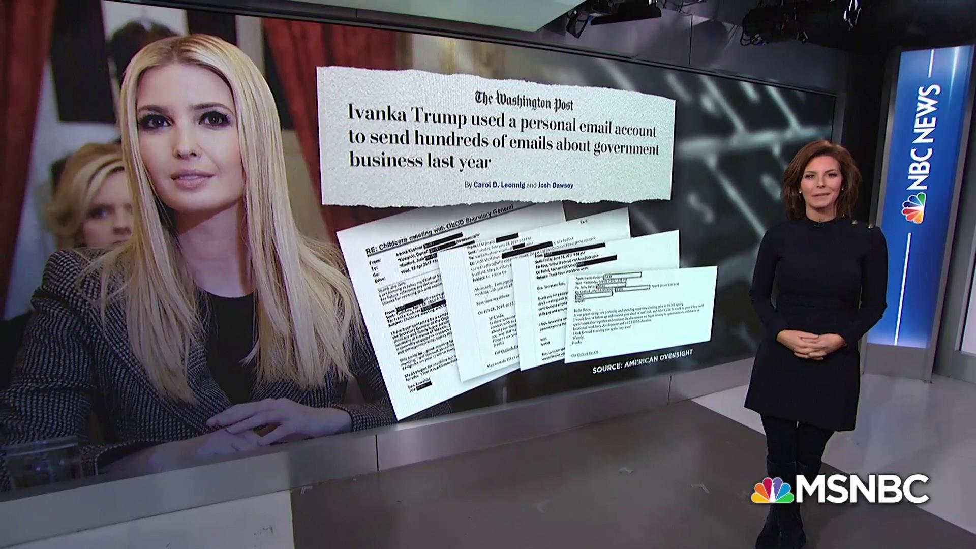 Does Ivanka Trump deserve same criticism as Clinton for emails?