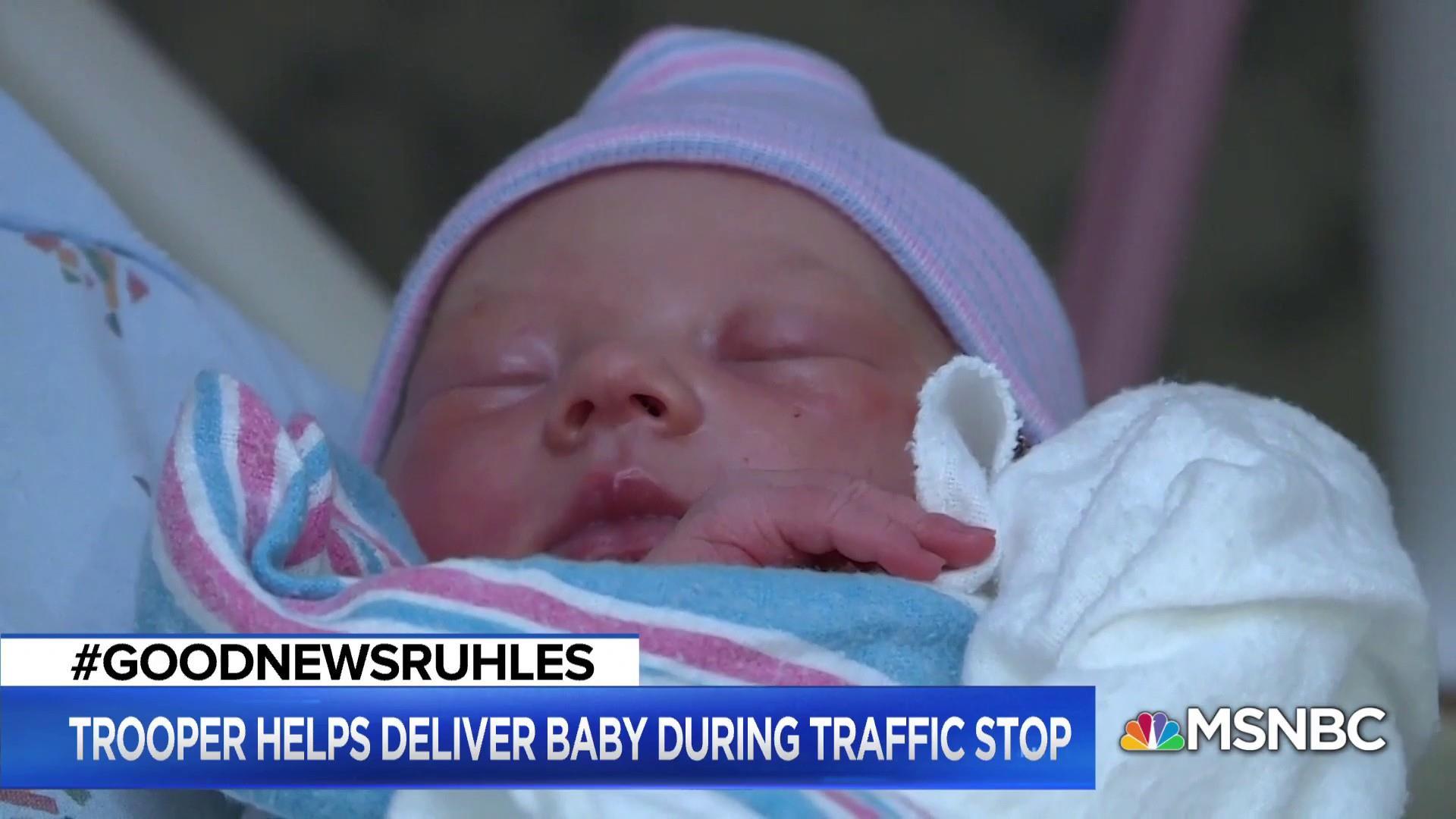 #GoodNewsRUHLES: Cop pulls over van, delivers passenger's baby