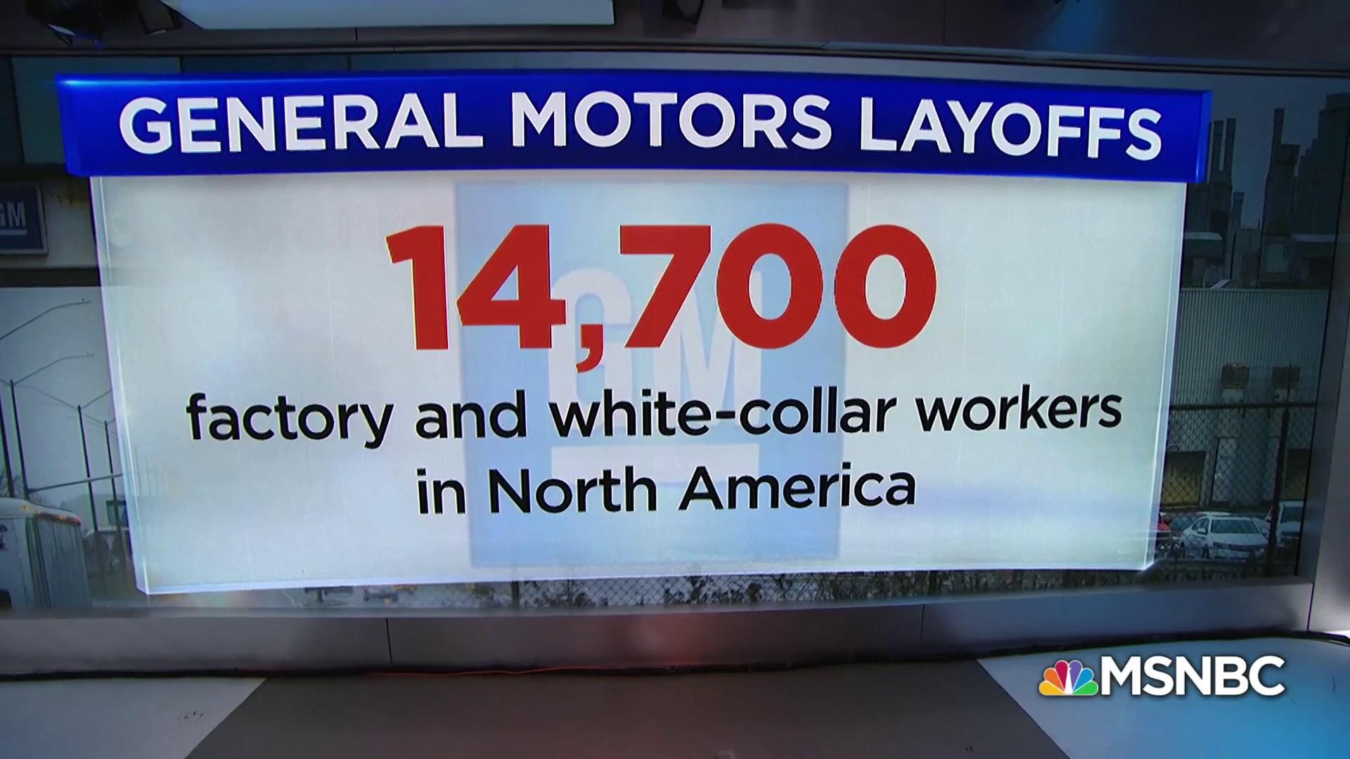 General Motors announces sweeping layoffs for North American workers