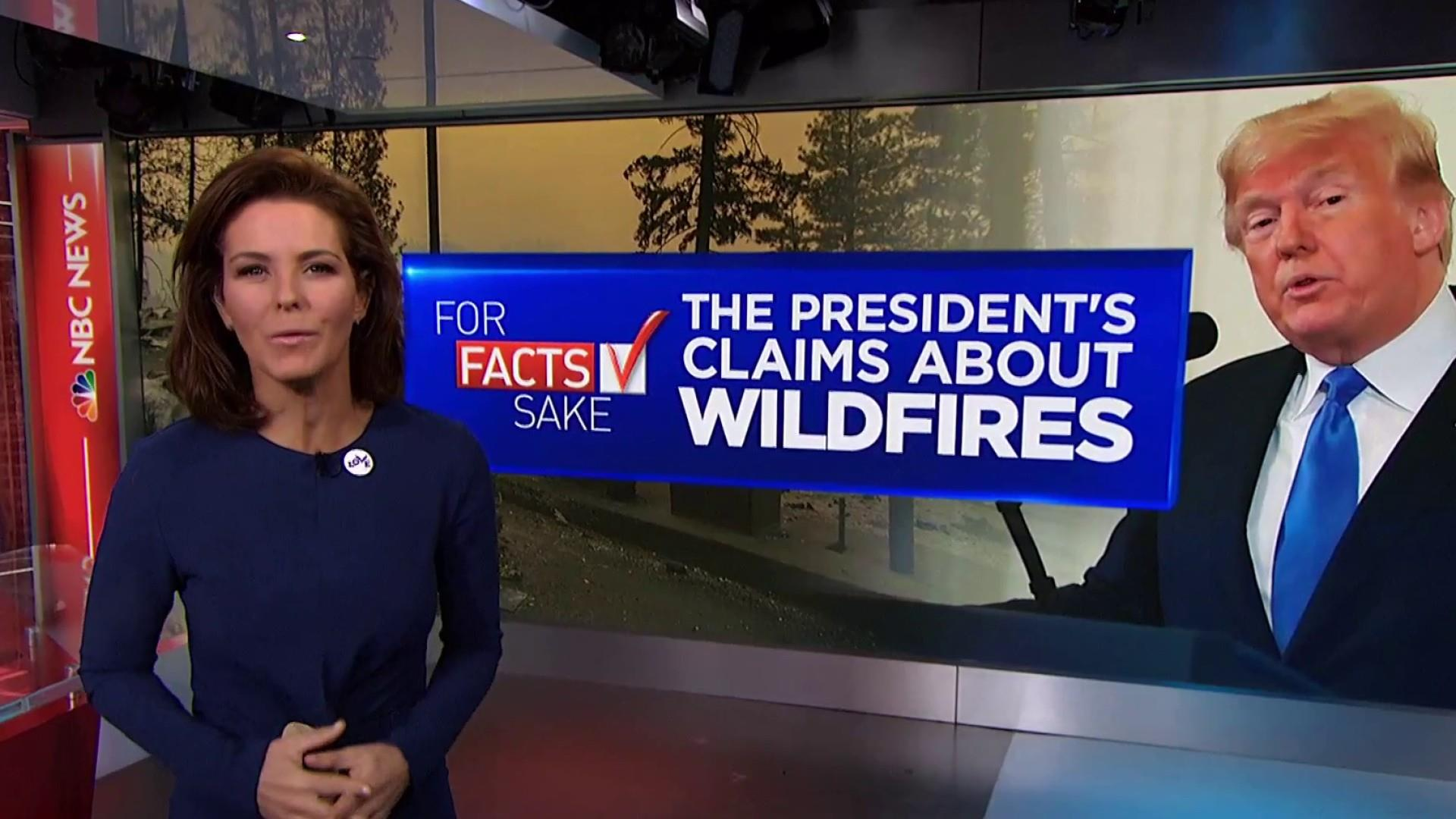 For Fact's Sake: President Trump is wrong about the CA fires