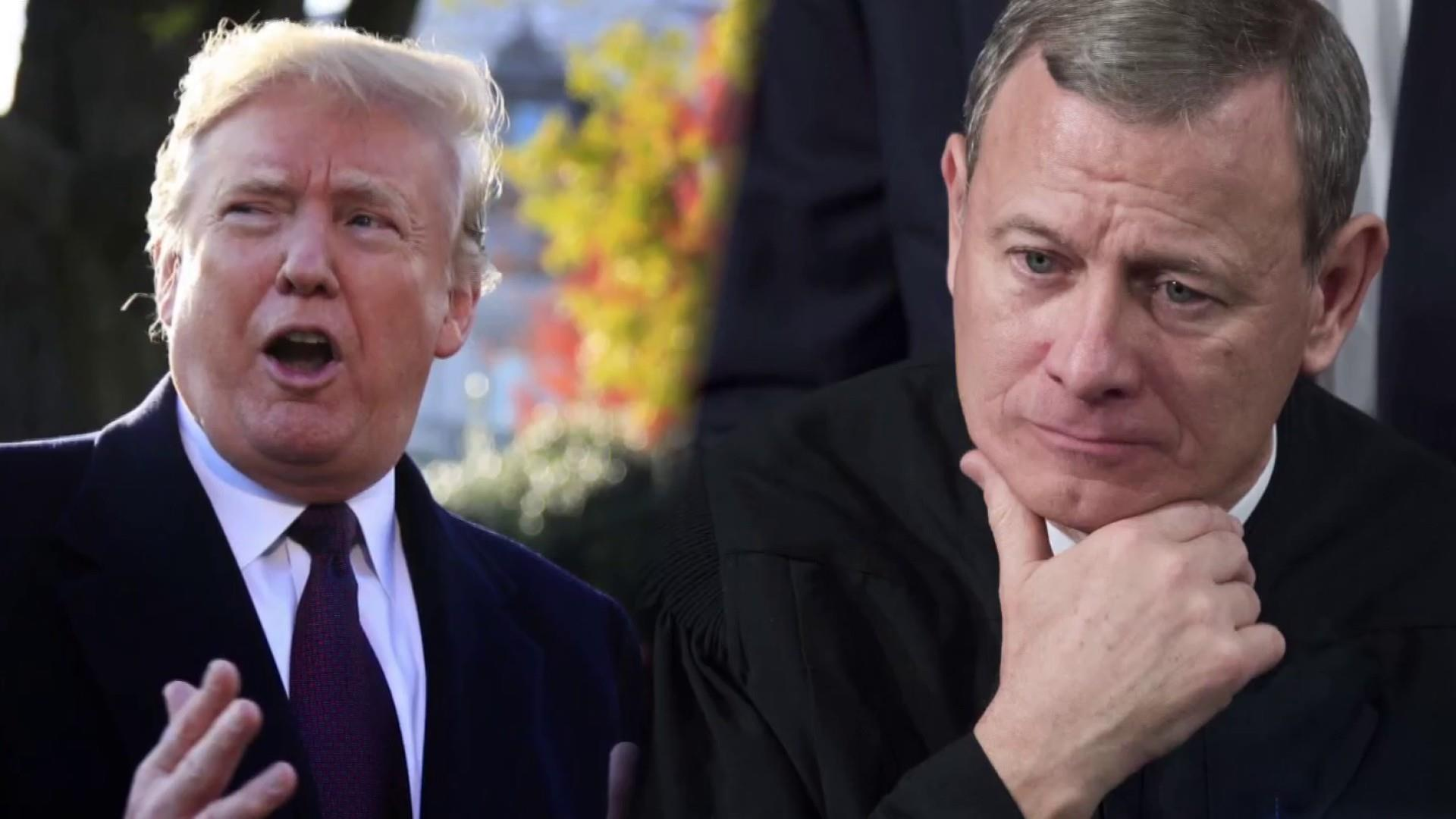 Chief Justice Roberts' rebuke of Trump's comment was carefully worded for a reason