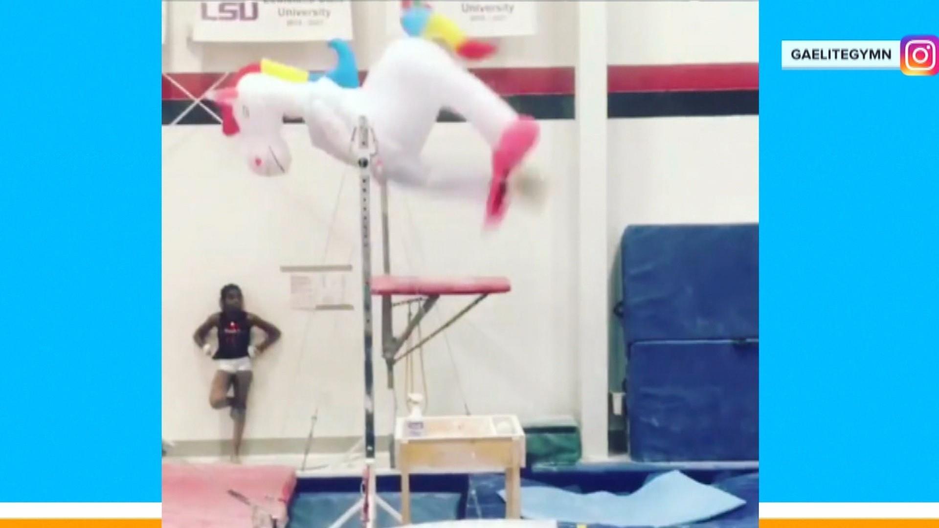 Watch: 'Unicorn' mesmerizes with amazing gymnastics routine