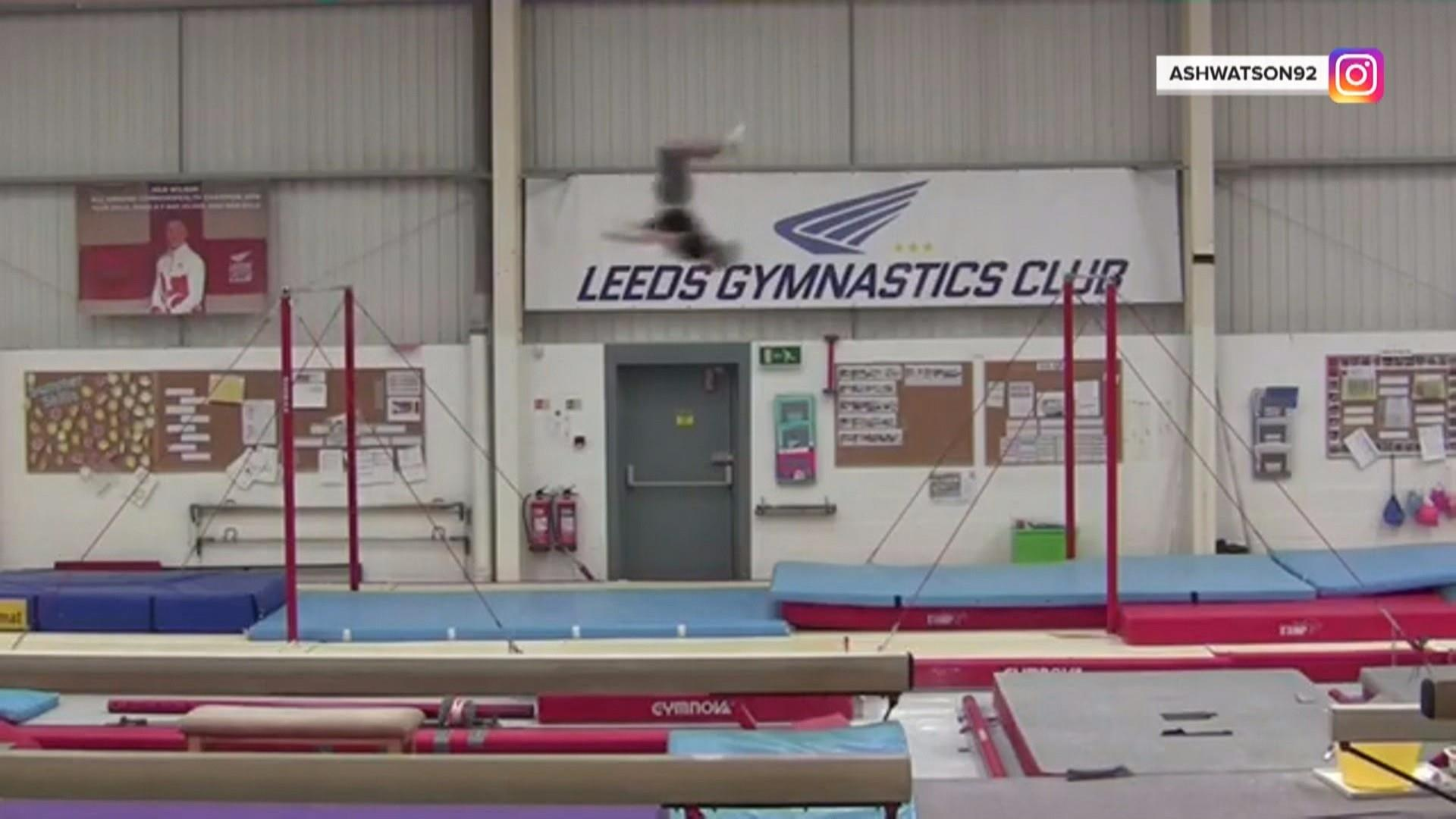 26-year-old gymnast sets world record with incredible backflip