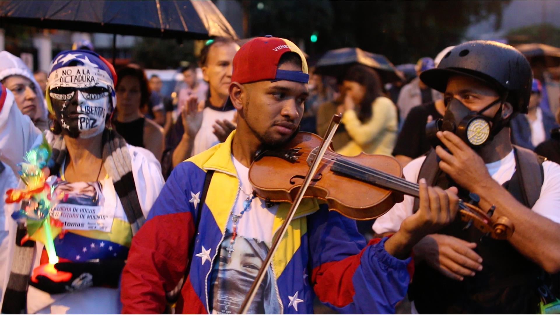 The long wait: Venezuelan violinist and resistance symbol seeks political asylum in U.S.