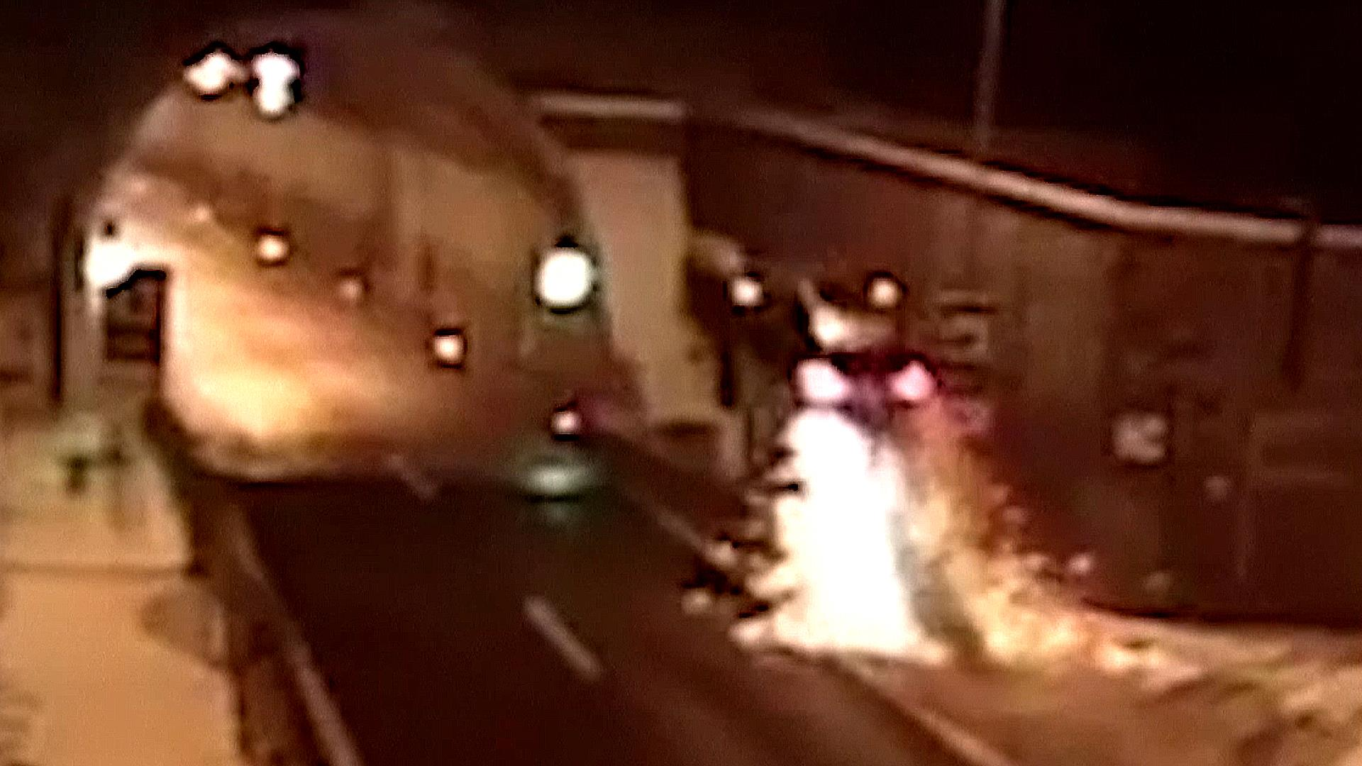 Car Crash In Slovakia Sends Vehicle Flying Into The Air