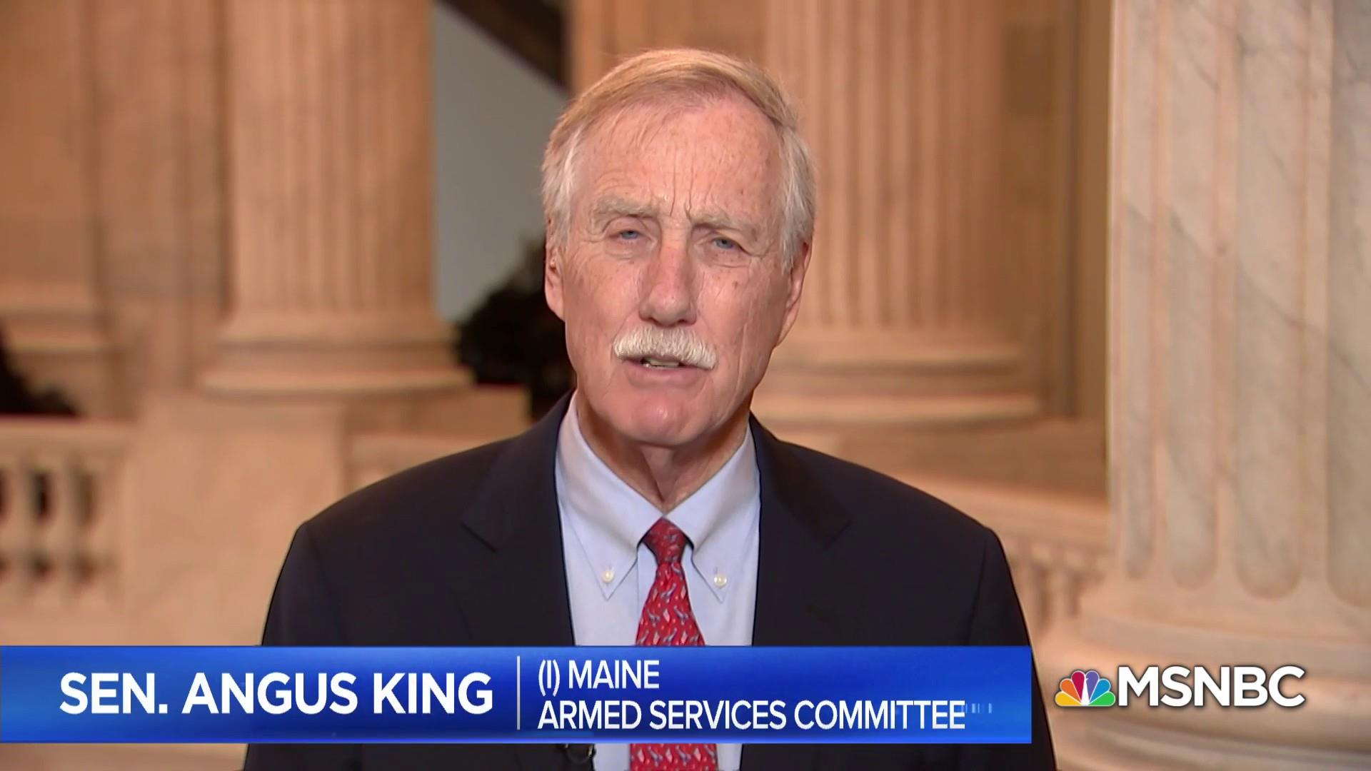 Sen. King: withdrawing troops from Syria is a 'disastrous foreign policy decision'