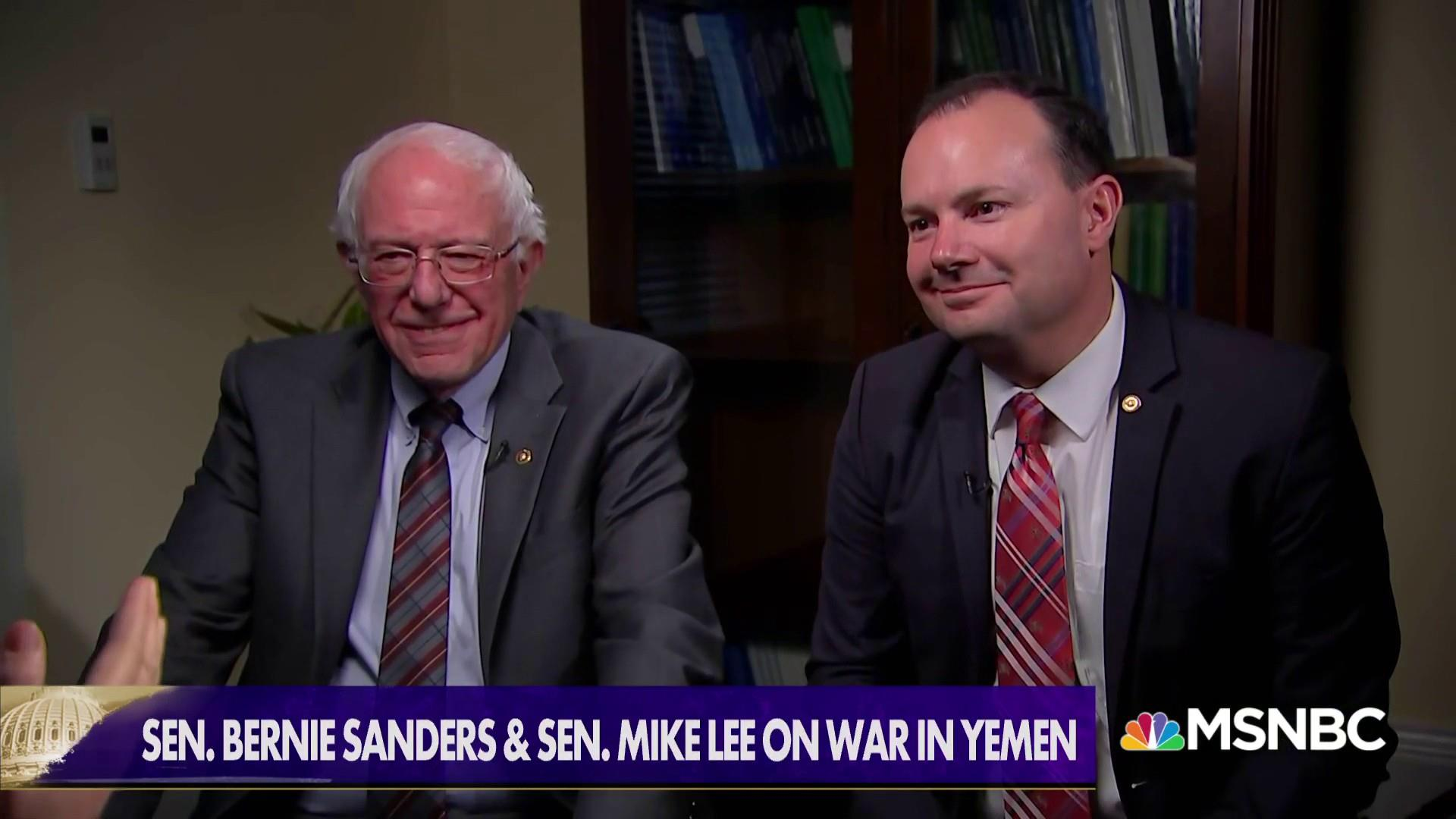 Sens. Sanders & Lee: U.S. involvement in Yemen 'unauthorized' and 'unconstitutional'