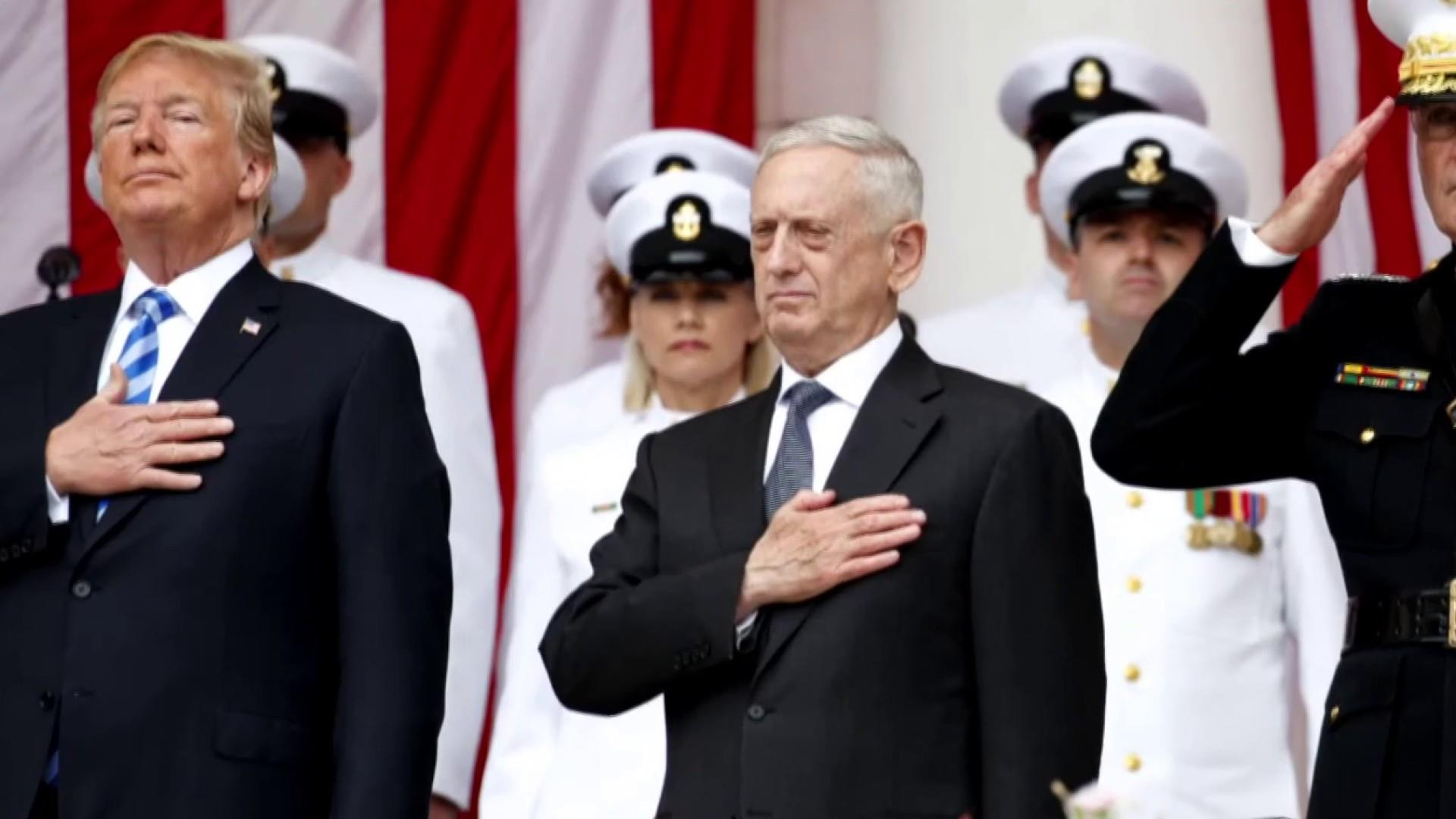 Gen. Mattis leaves Trump White House over differences with president
