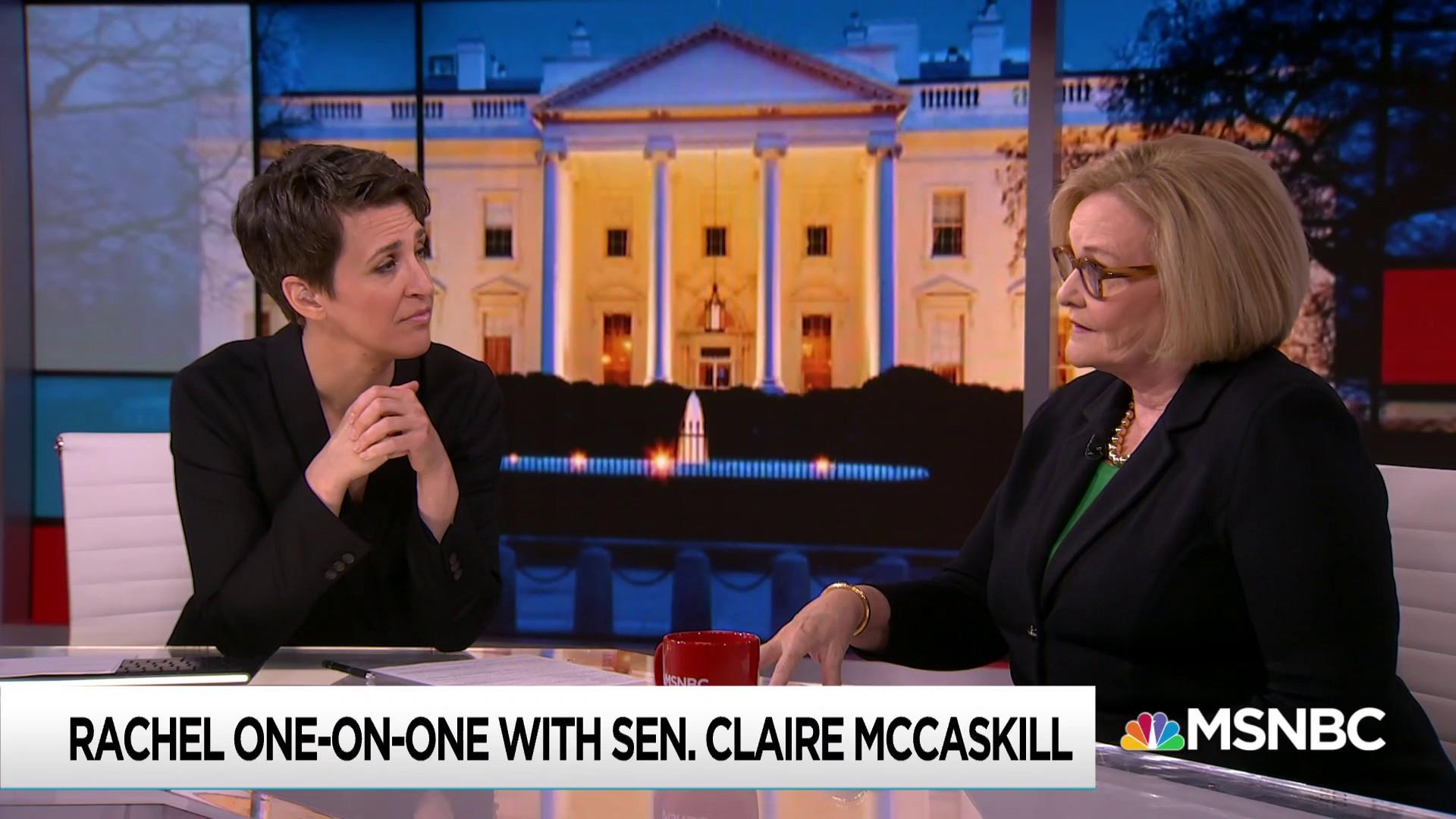 Claire McCaskill talks keeping criticism constructive