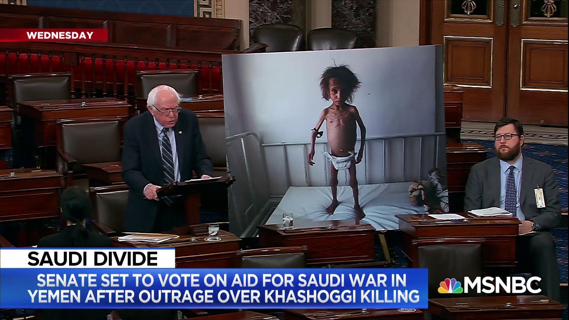 Bernie Sanders: Congress must determine U.S. involvement in Yemen crisis