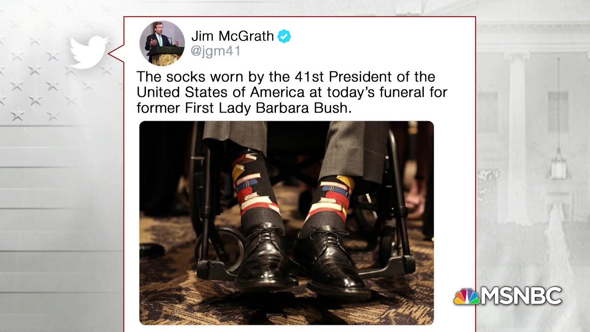 Remembering H.W. Bush: The president and his whimsical socks