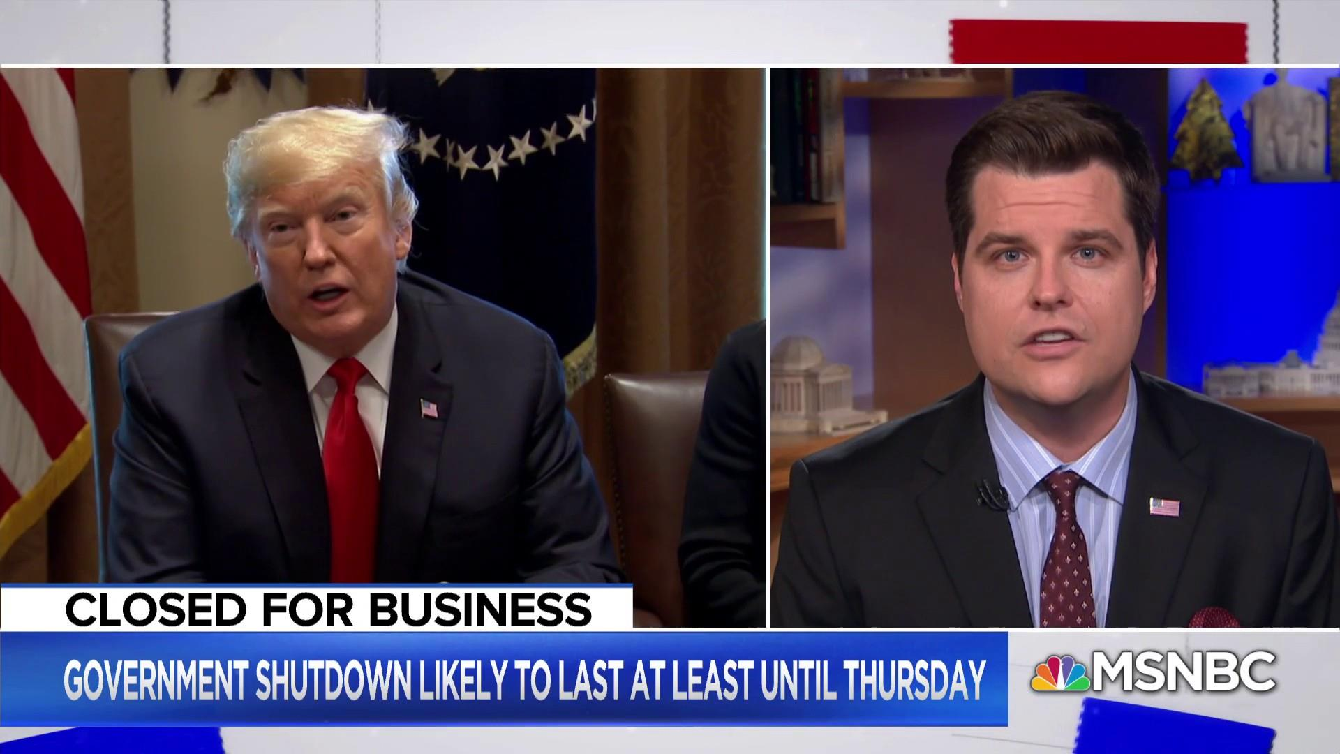 Rep. Matt Gaetz: President 'resolute' about border security