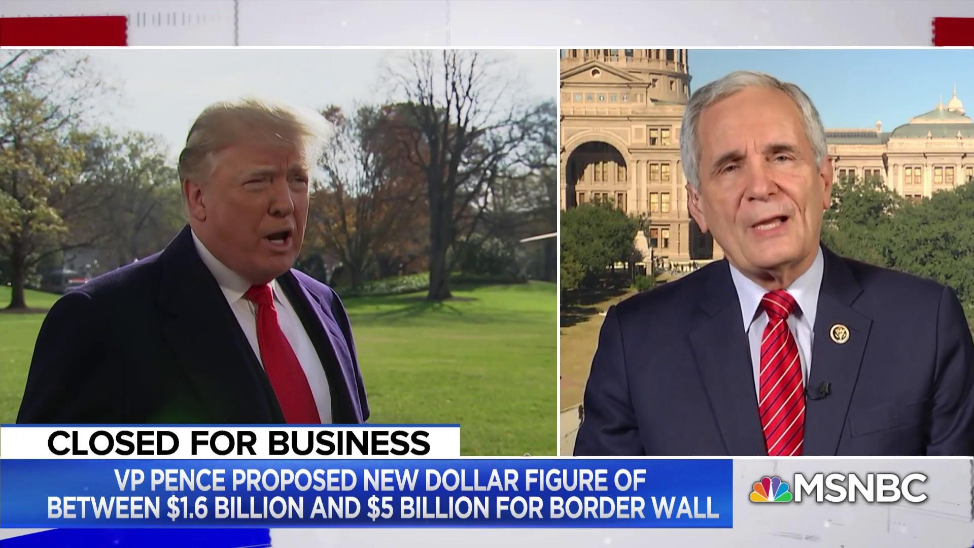 Rep. Doggett: 'President Chaos' is cause of government shutdown