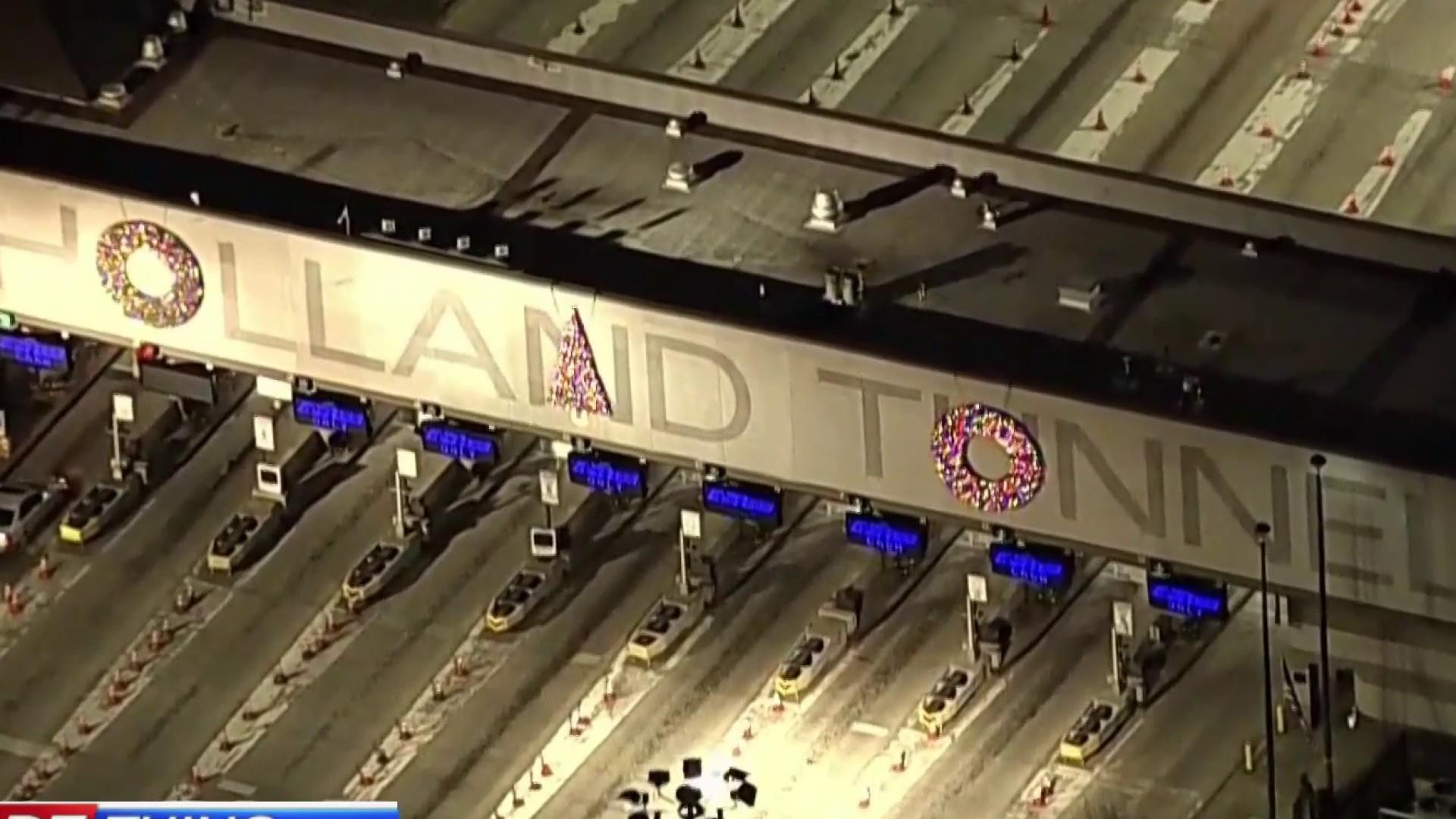 One more thing: The Holland Tunnel's Holiday decorations