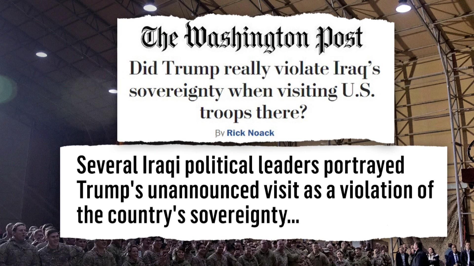 Fallout piles up after Trump's messy Iraq trip