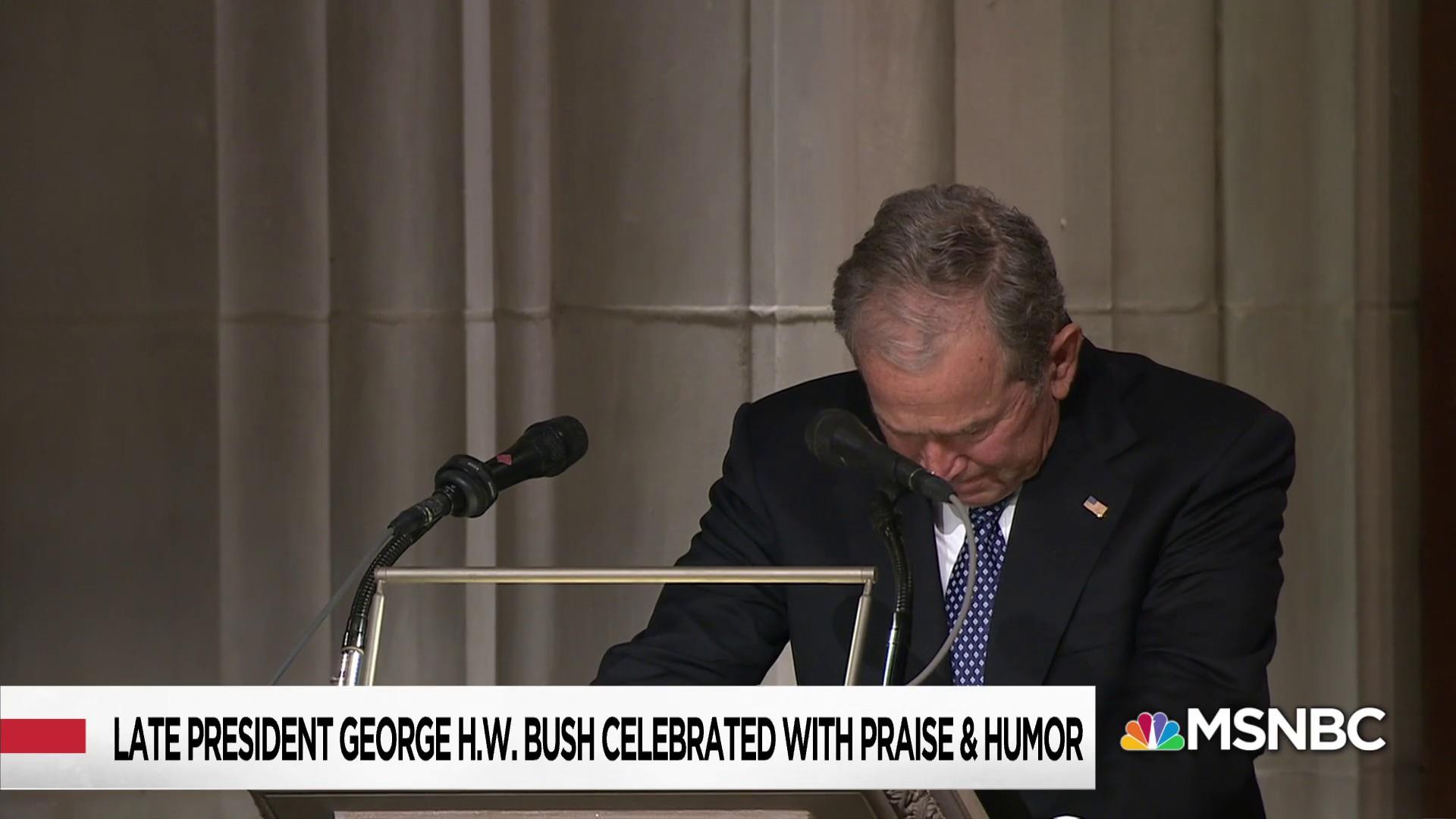Presidents and dignitaries come together to honor George H.W. Bush
