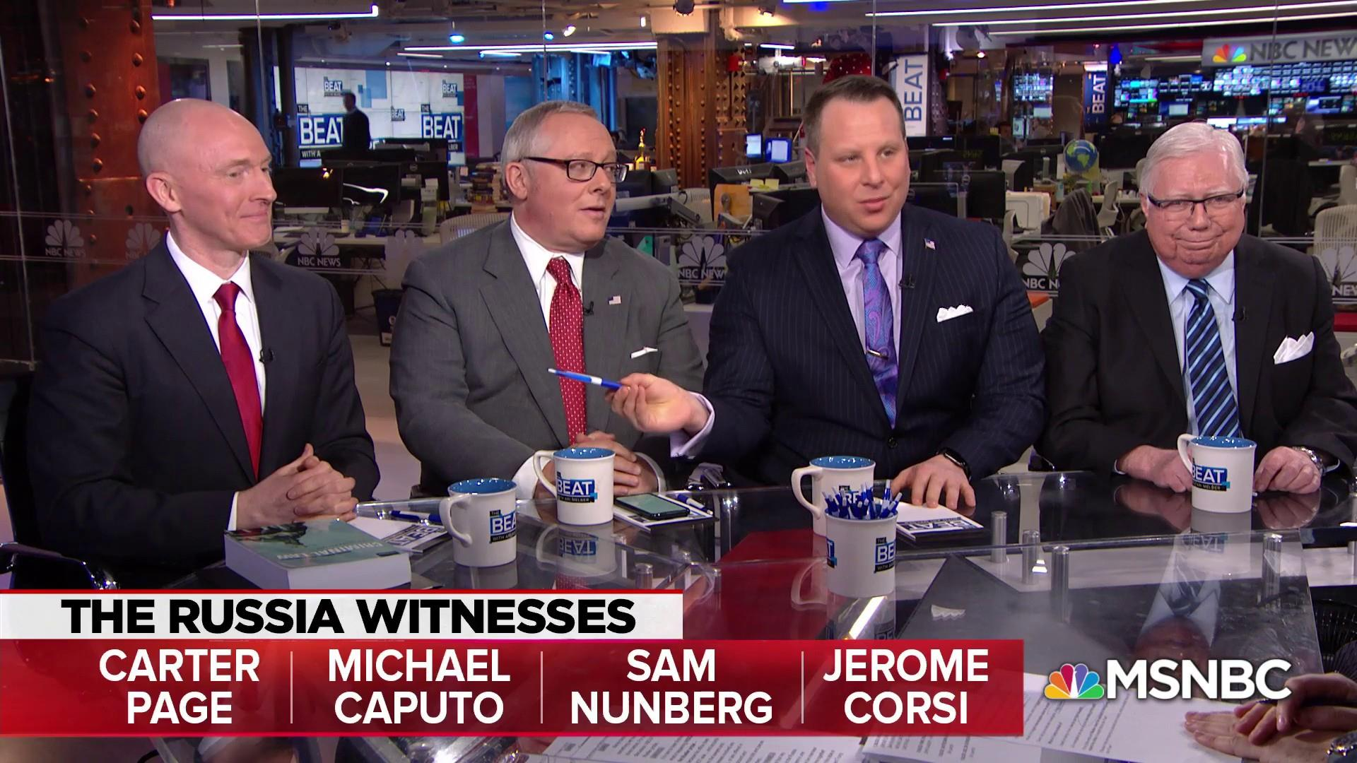 Key Mueller witnesses: He's probing Russian collusion