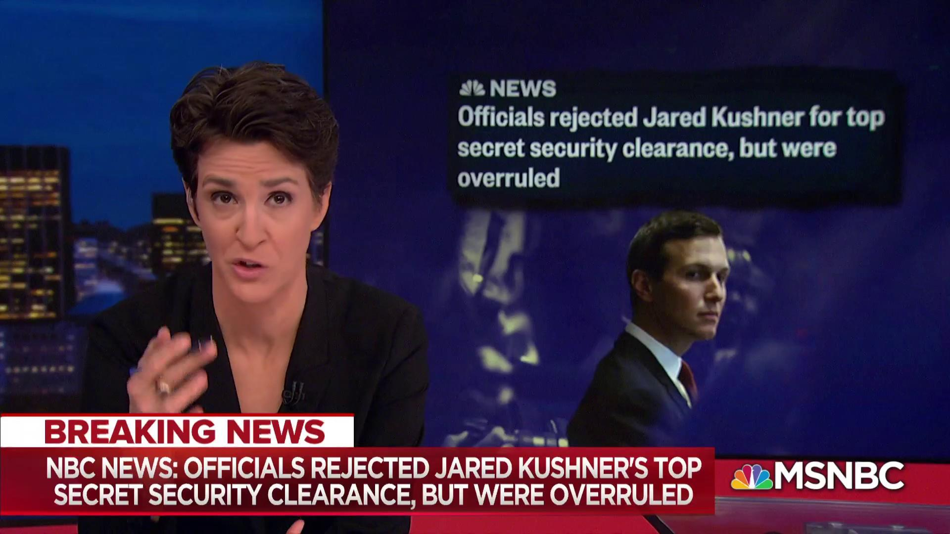 Kushner security clearance rejection overruled by Trump appointee