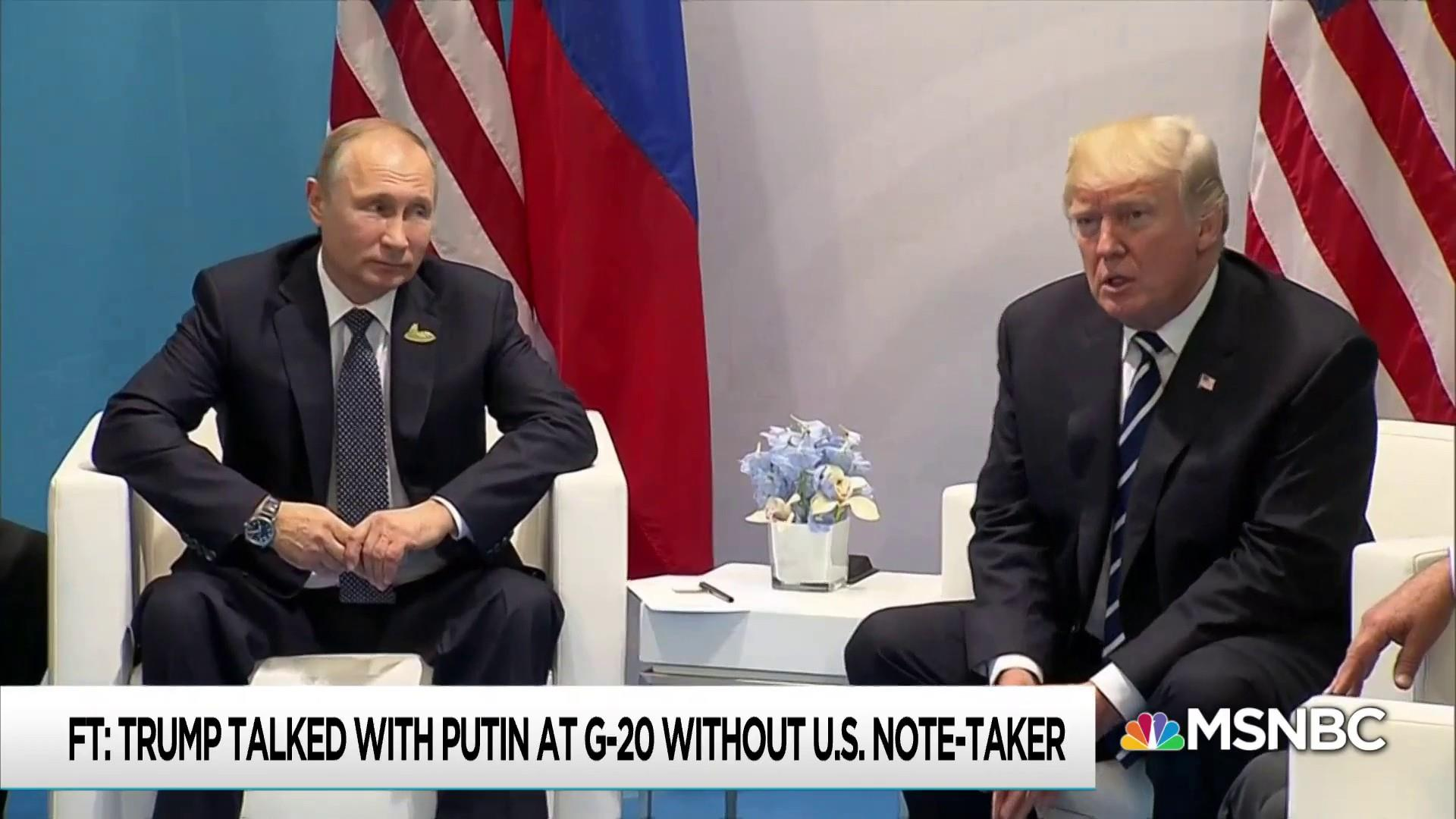 Trump had another 'off the books' meeting with Putin at G20: FT