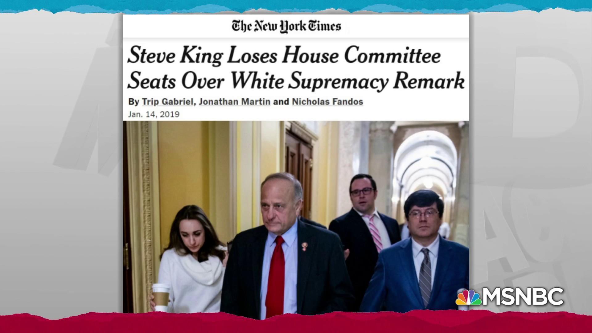 Rep. Steve King racist remarks cost him committee memberships