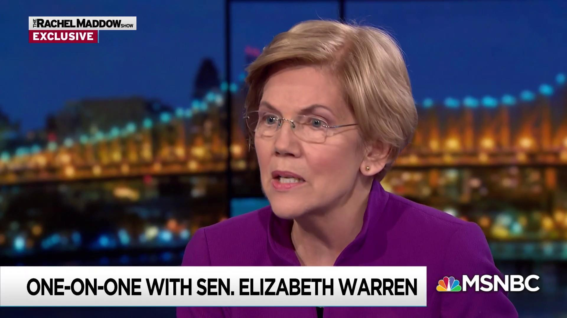 Warren: Corruption makes Trump 'an accelerant' of inequality