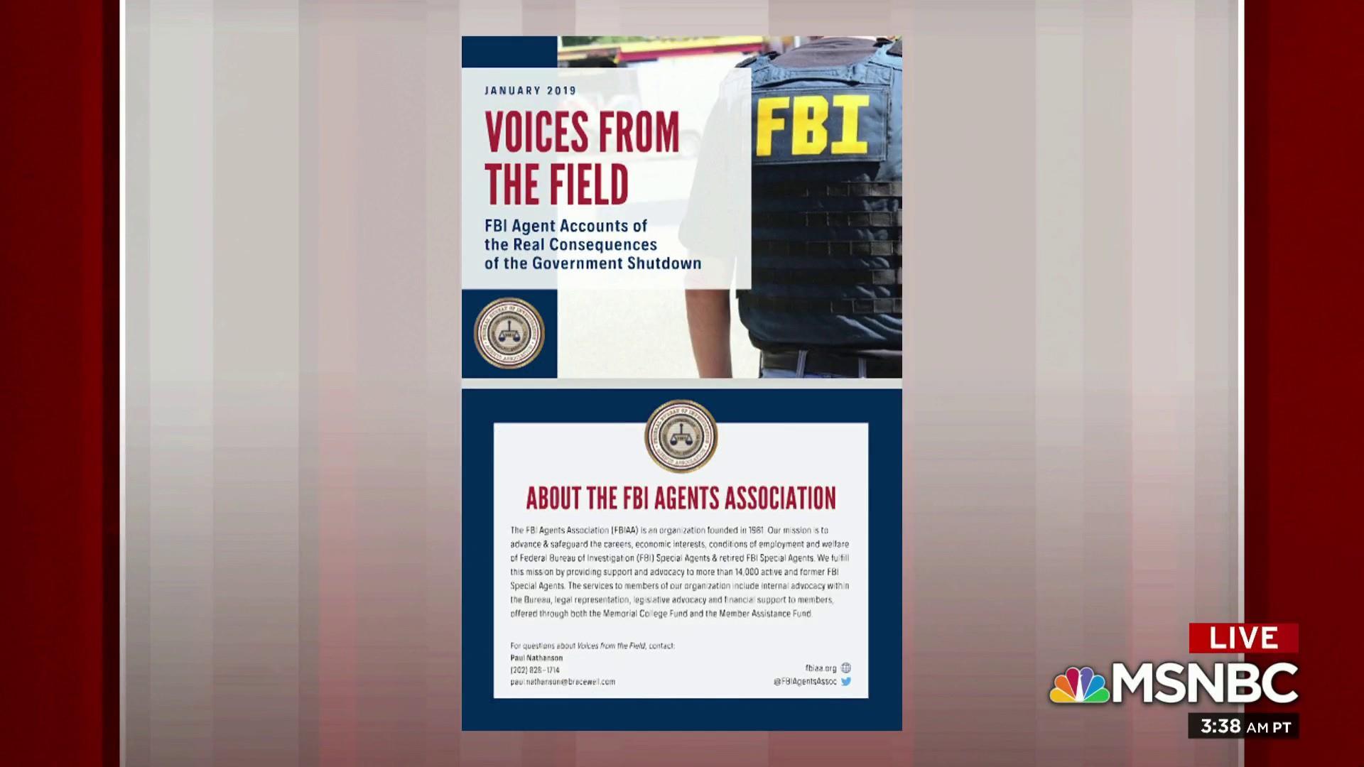 Shutdown slows FBI investigations, says agents union