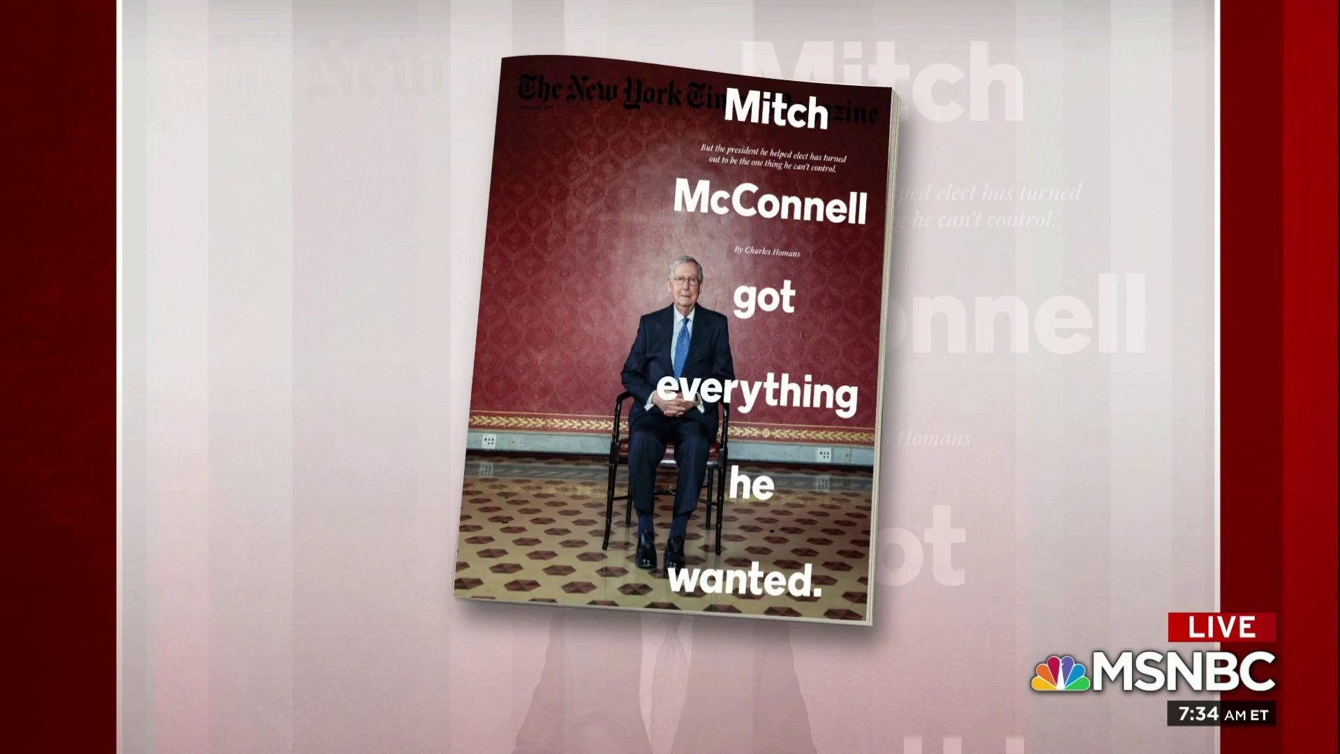 Sen. McConnell considers his place in history: NYT