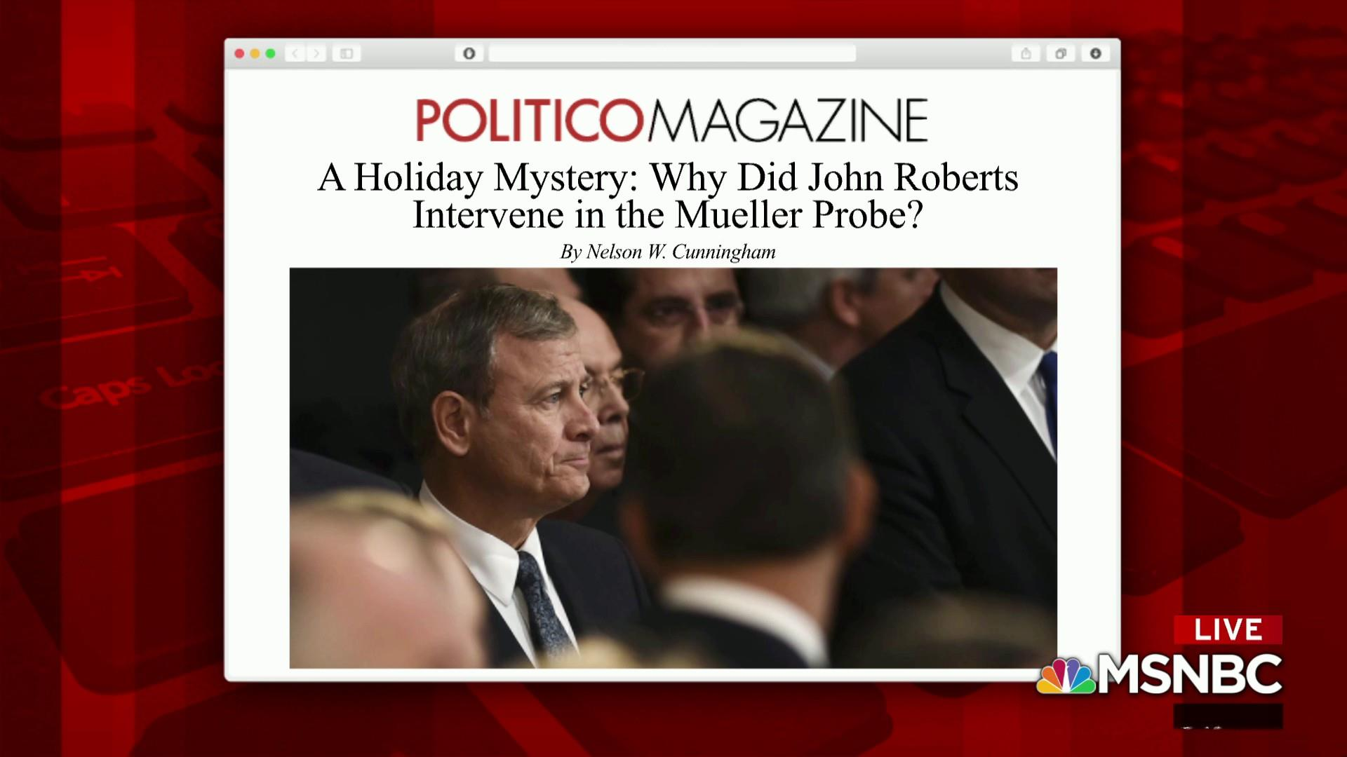 John Roberts intervenes in secret subpoena case