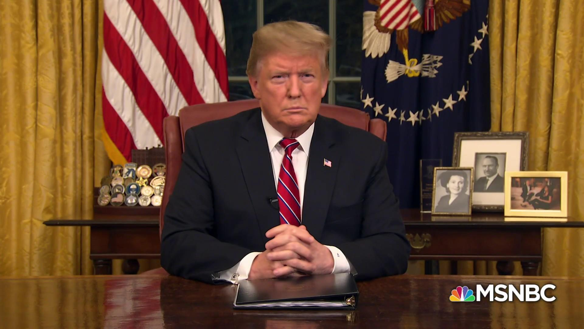 President Trump addresses the nation from the Oval Office