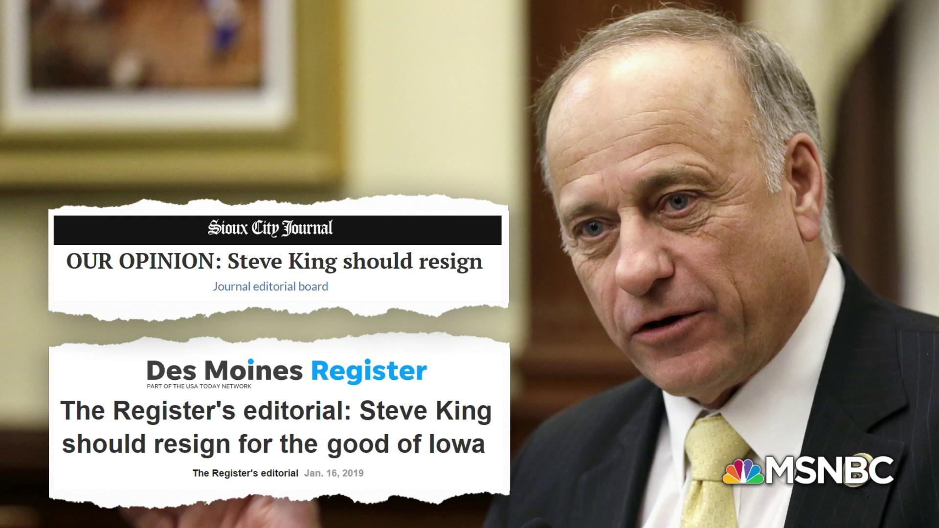 Calls for Rep. Steve King's resignation grow over racist remarks