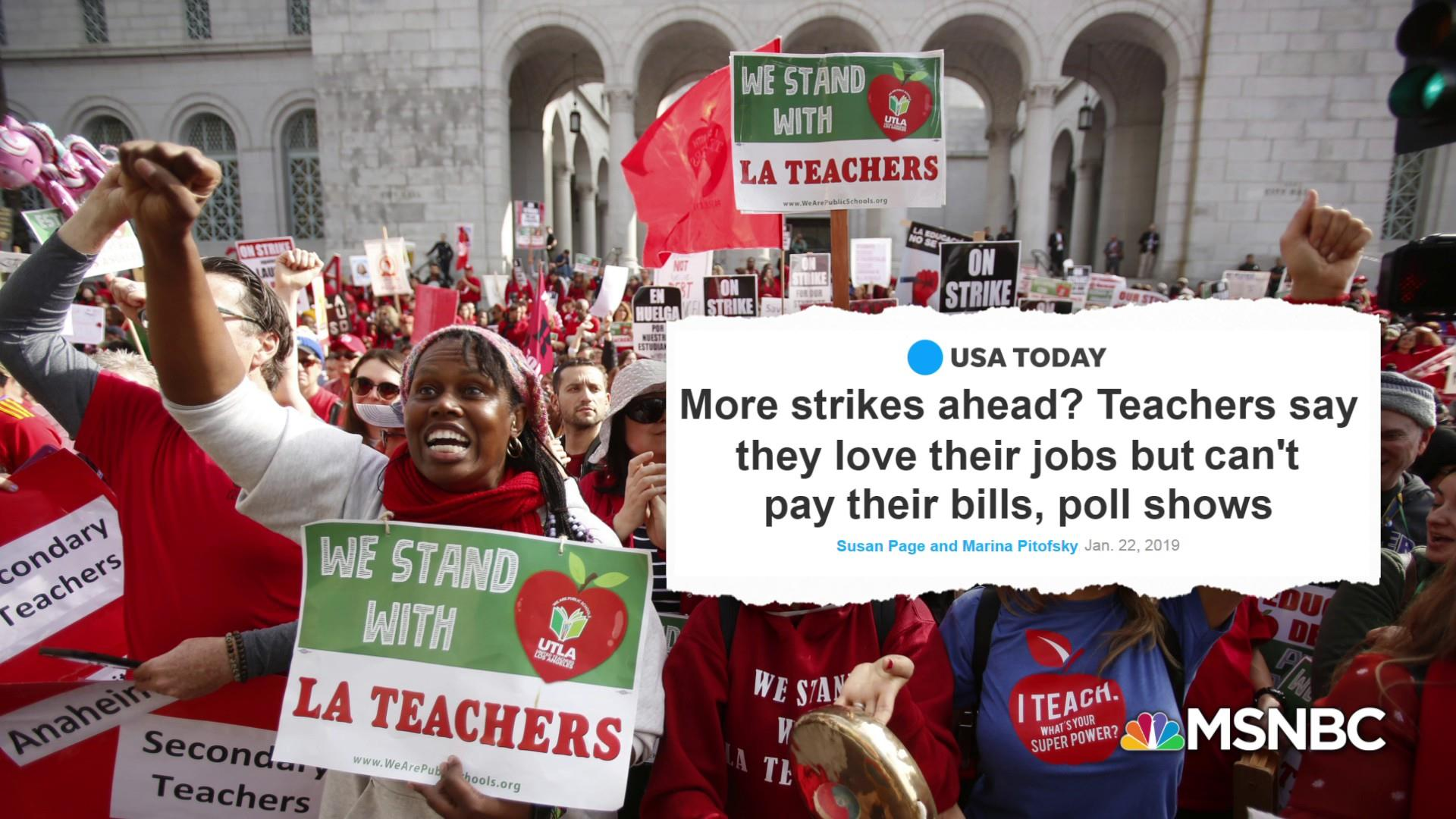 "Teacher union head: ""Not right"" teachers can't make ends meet"