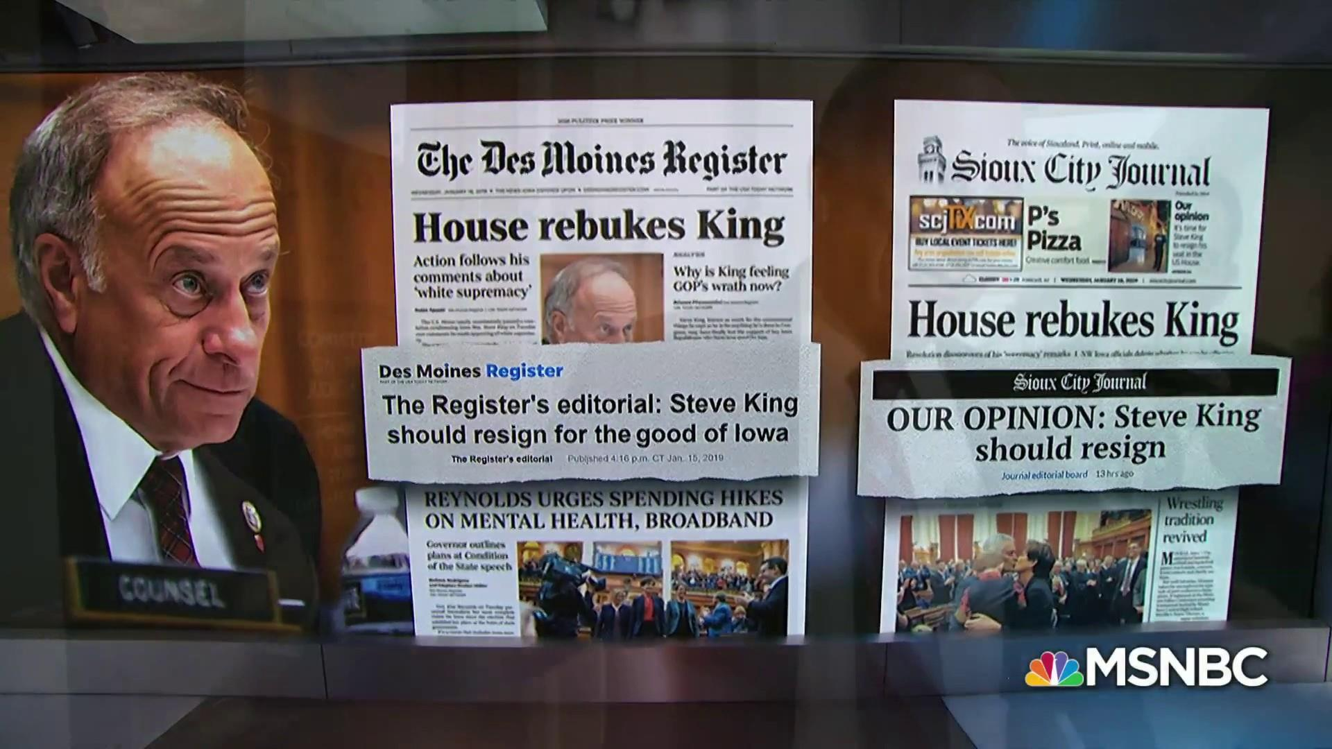 Rep. Steve King's constituents calling for his resignation