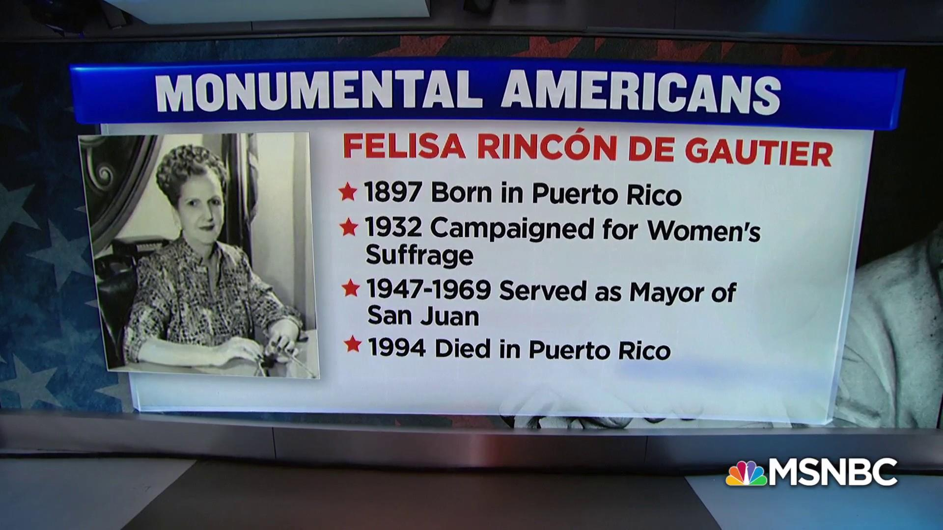 #MonumentalAmerican: Felisa Rincón de Gautier