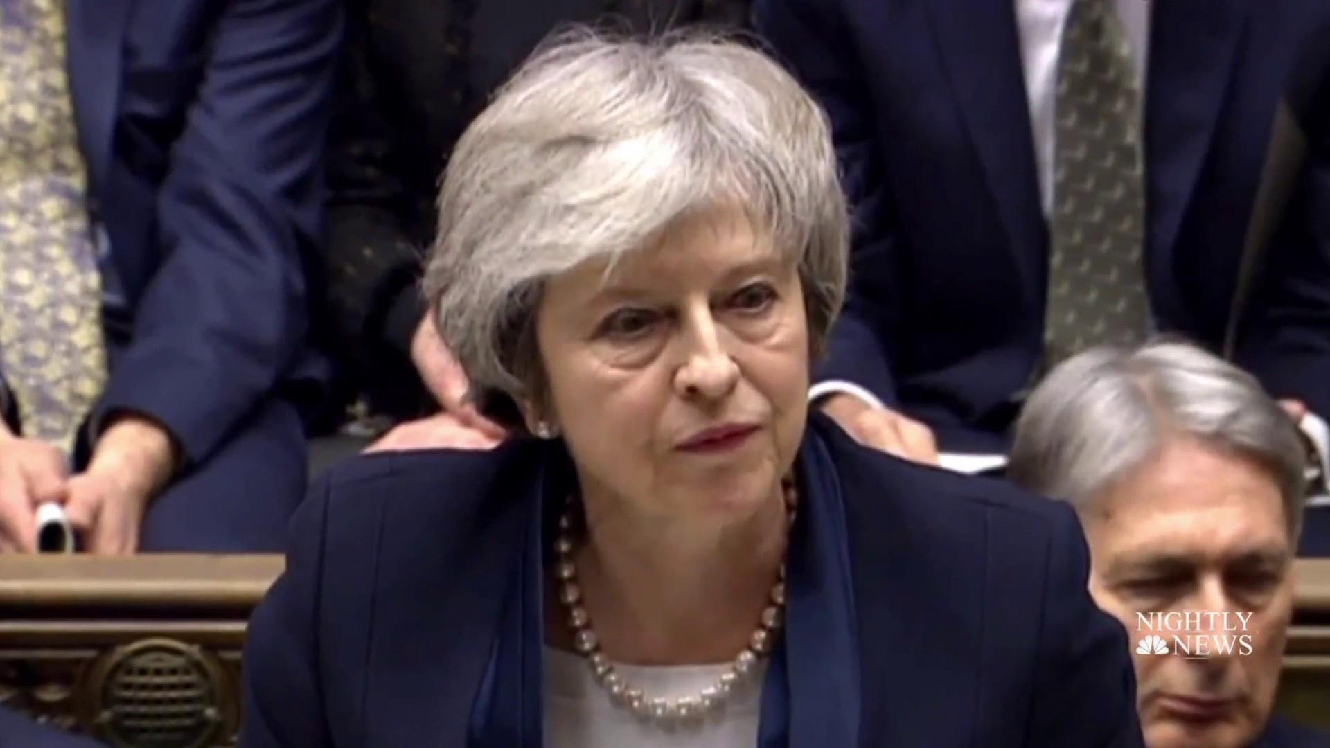 British Prime Minister May loses historic vote on her Brexit deal