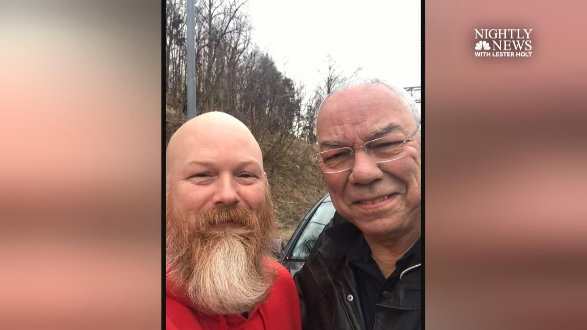 Colin Powell, veteran who stopped to help reflect on chance meeting